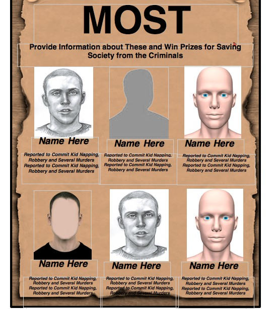 fbi most wanted template free .