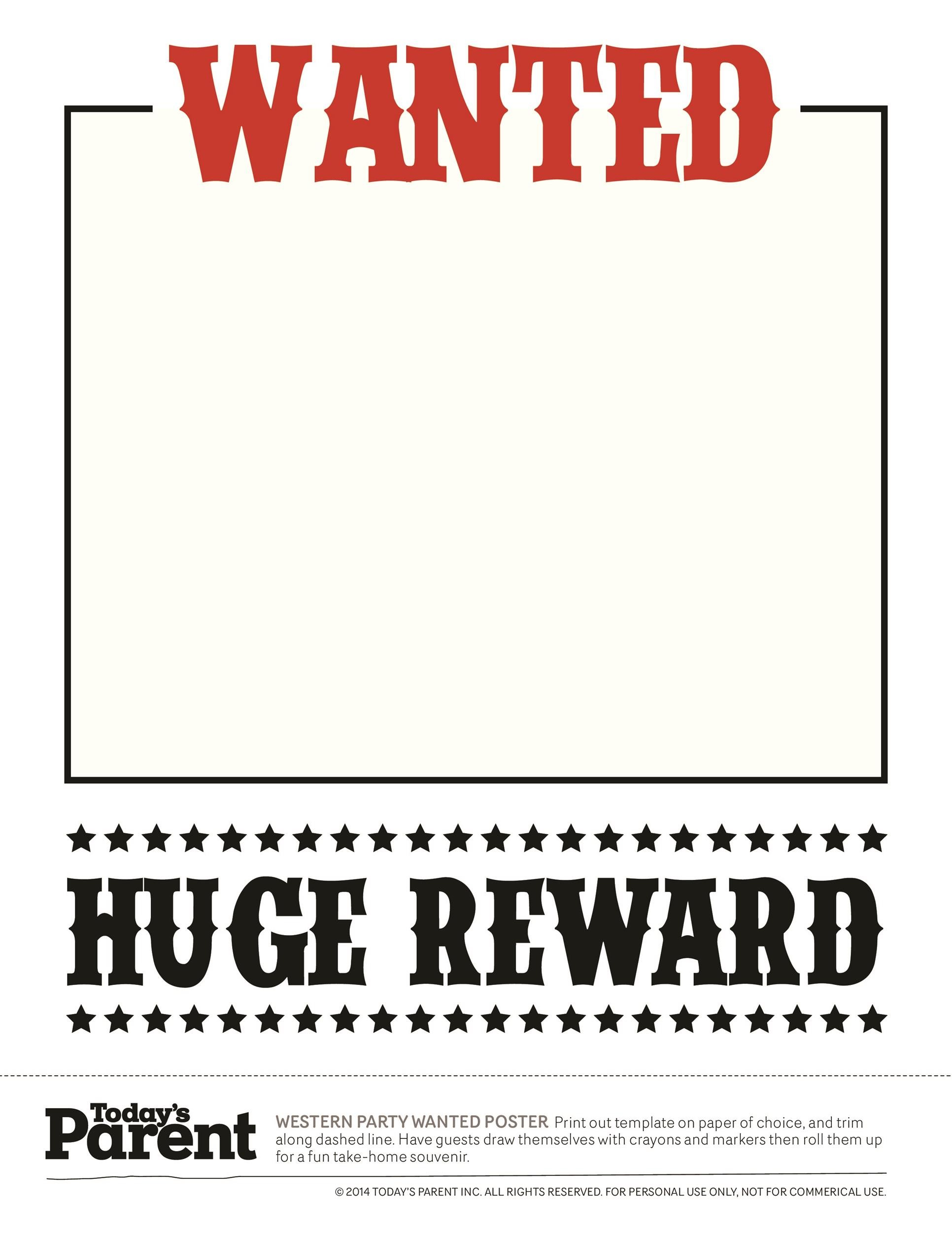Free Old West Most Wanted Poster 01