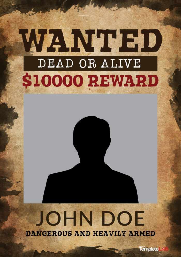 Free Wanted Dead or Alive Template 3 (Word) - TemplateLab Exclusive