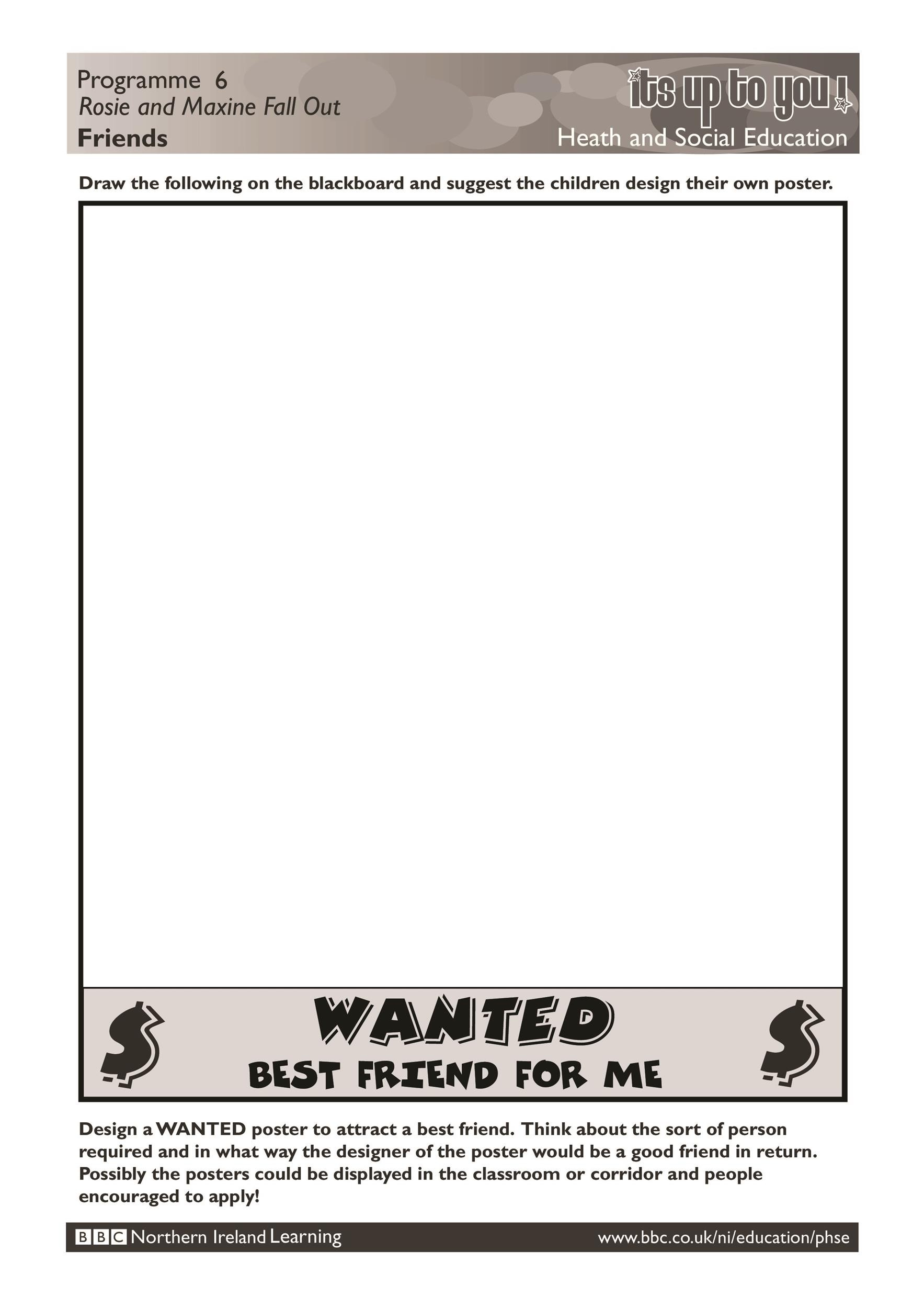 Wanted Poster Template 01