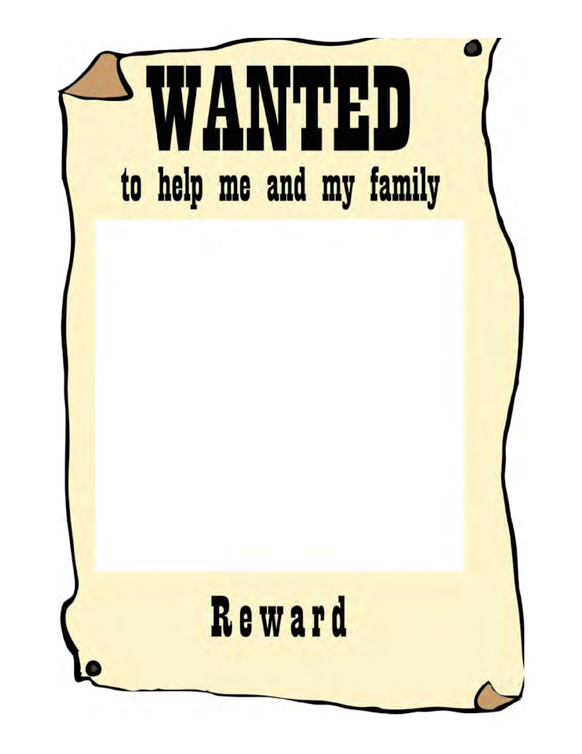 Perfect Printable Wanted Poster Template 05  Printable Wanted Poster Template