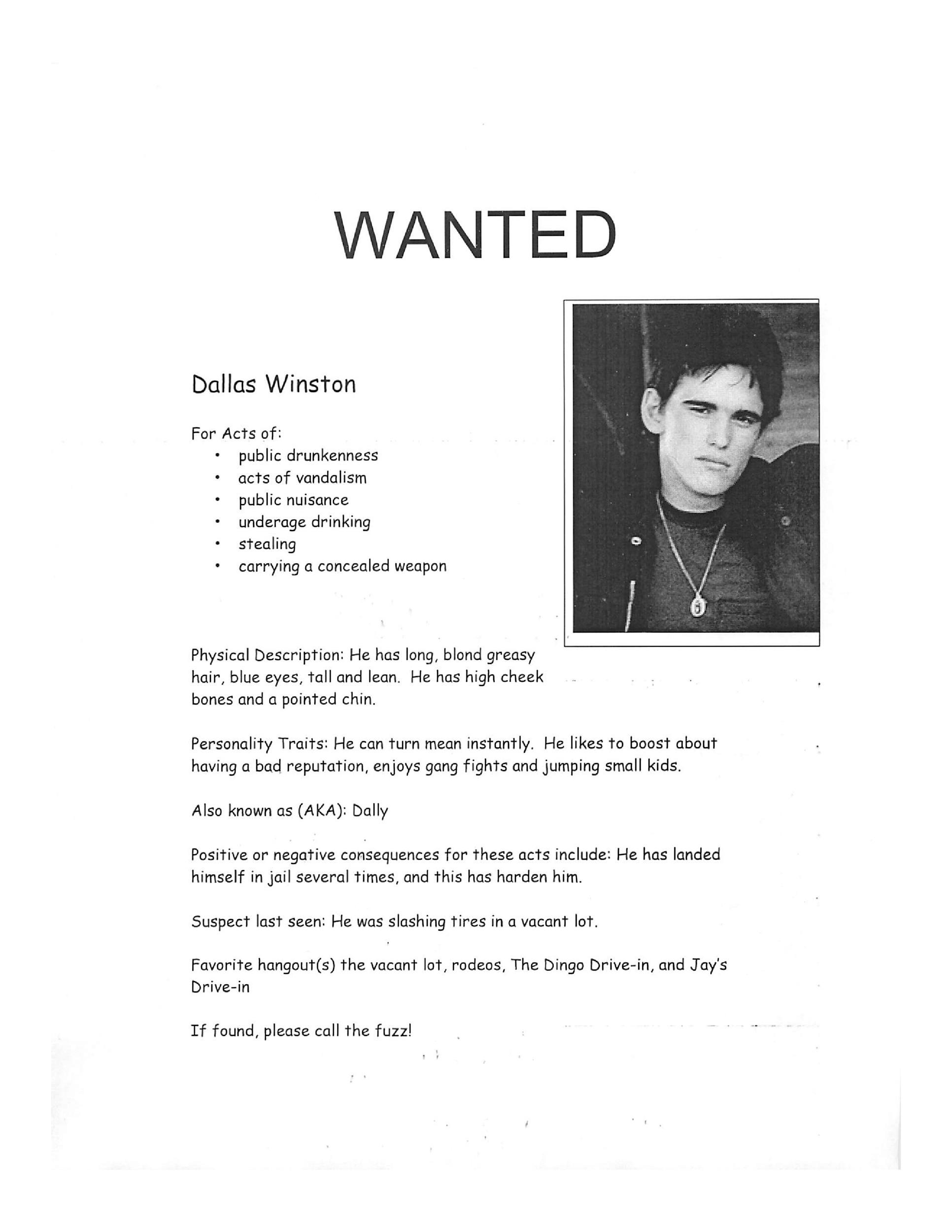 Free Wanted Poster Template 06