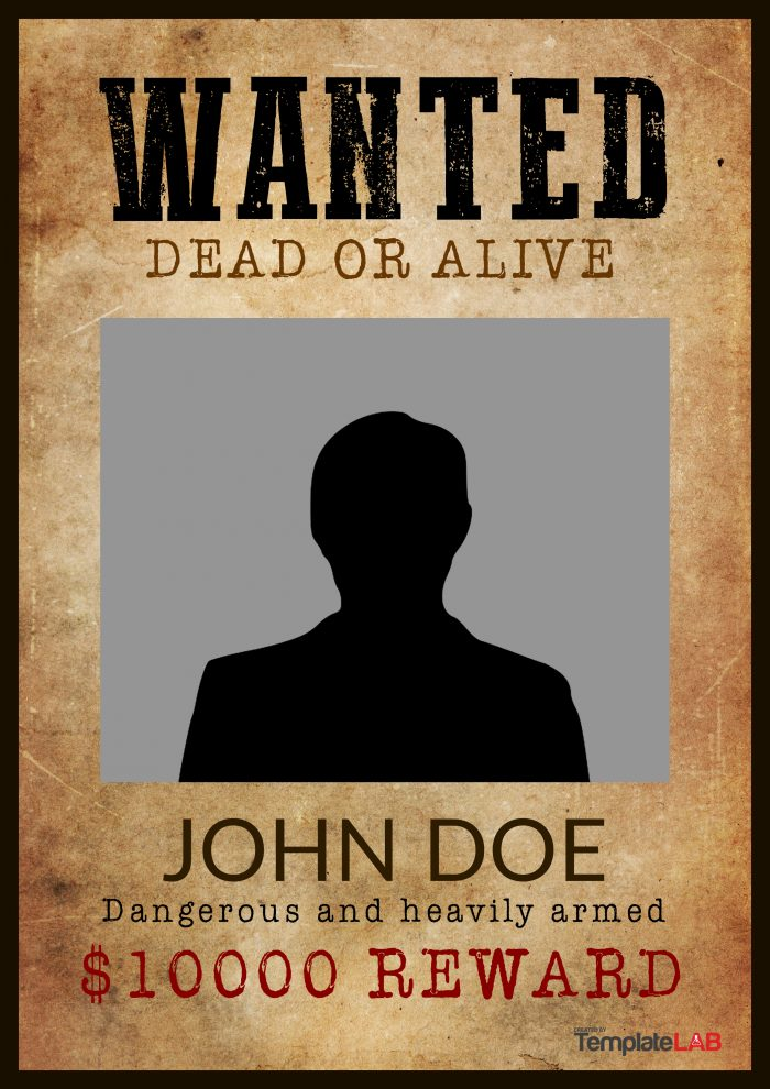 Free Western Wanted Poster Template 2 - TemplateLab