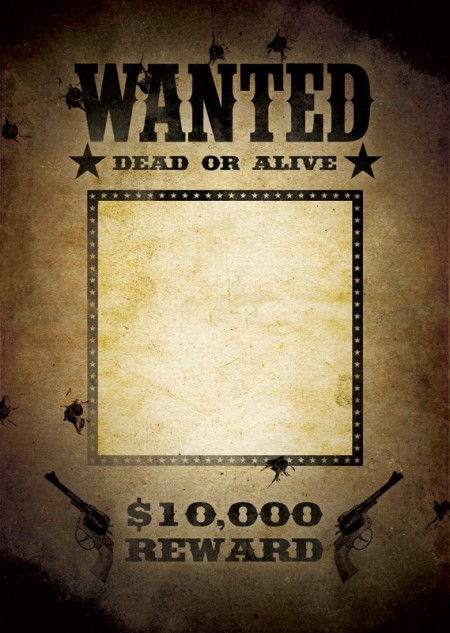 29 free wanted poster templates fbi and old west for Wanted dead or alive poster template free