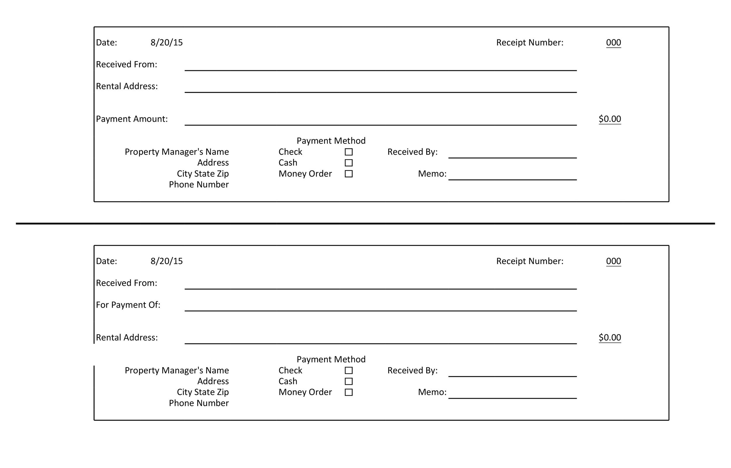 Great Printable Excel Receipt Template 01 Intended For Check Receipt Template