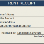 Rent Receipt Template Excel 01