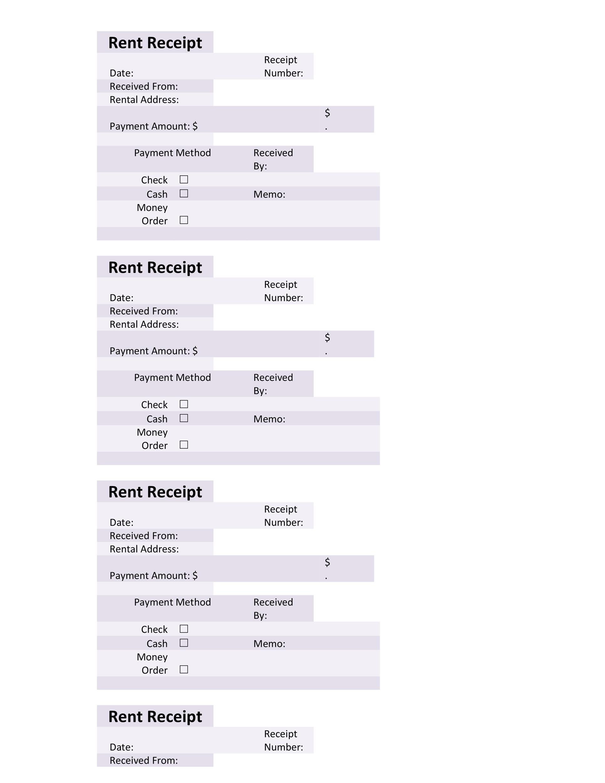 Free Rent Receipt Template Word 02