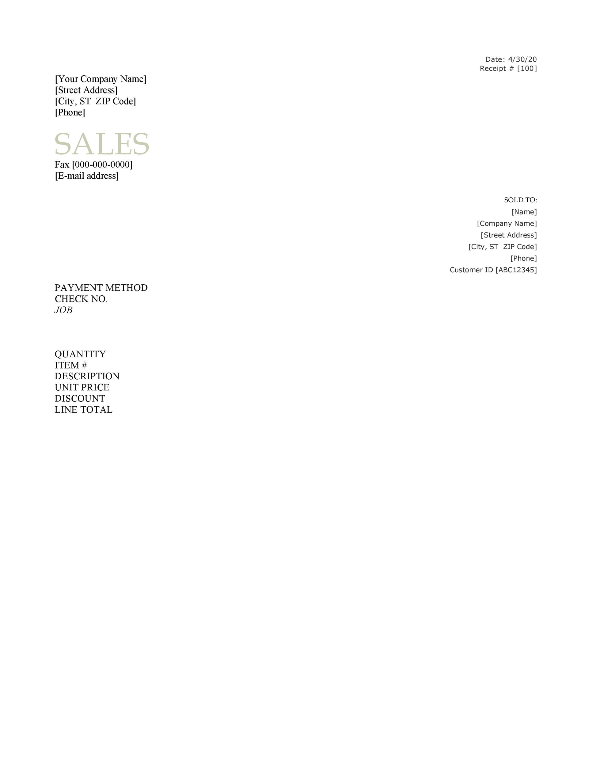 Printable Sales Receipt Template Word 02  Customer Receipt Template Word