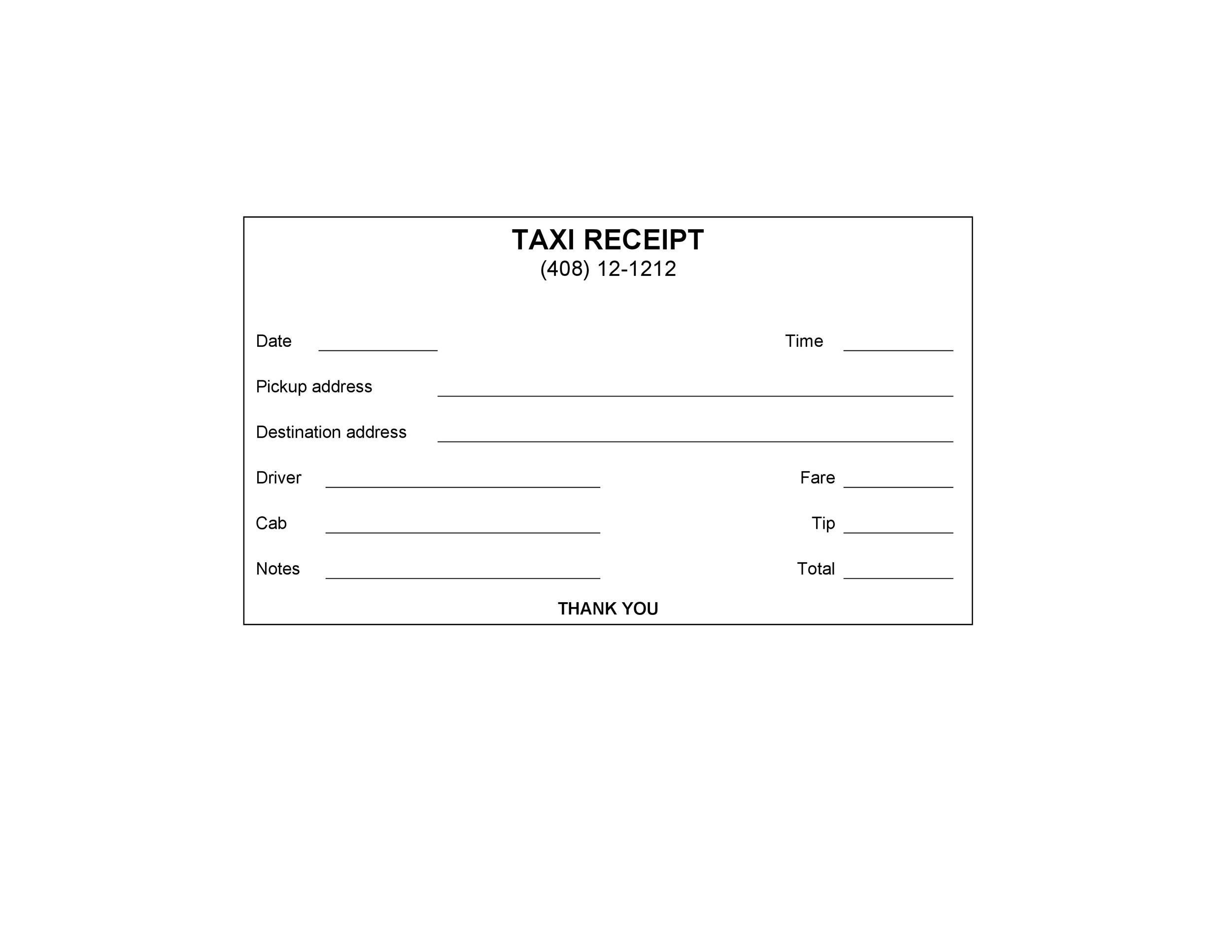 50 Free Receipt Templates Cash Sales Donation Taxi – Format for Receipt