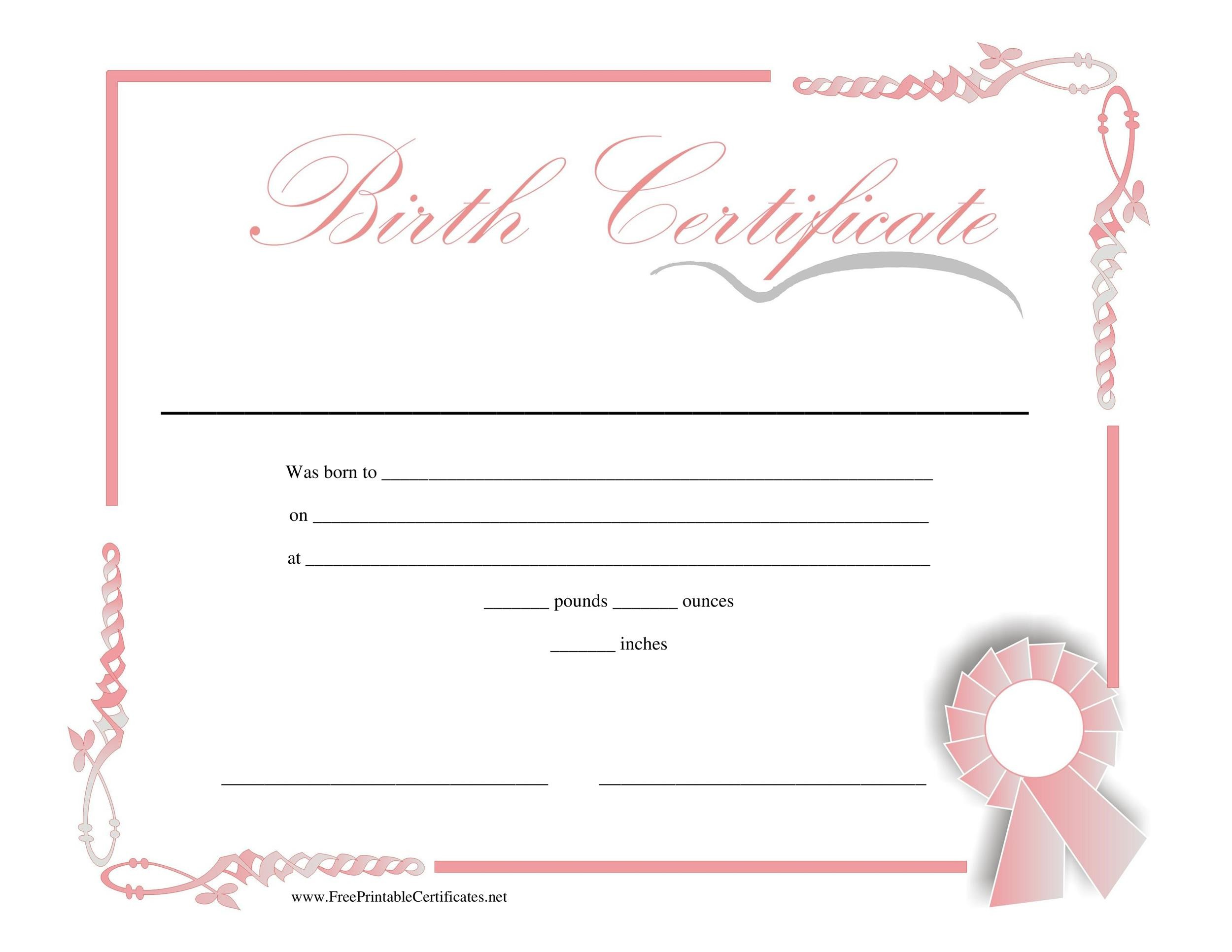 15 birth certificate templates word amp pdf template lab