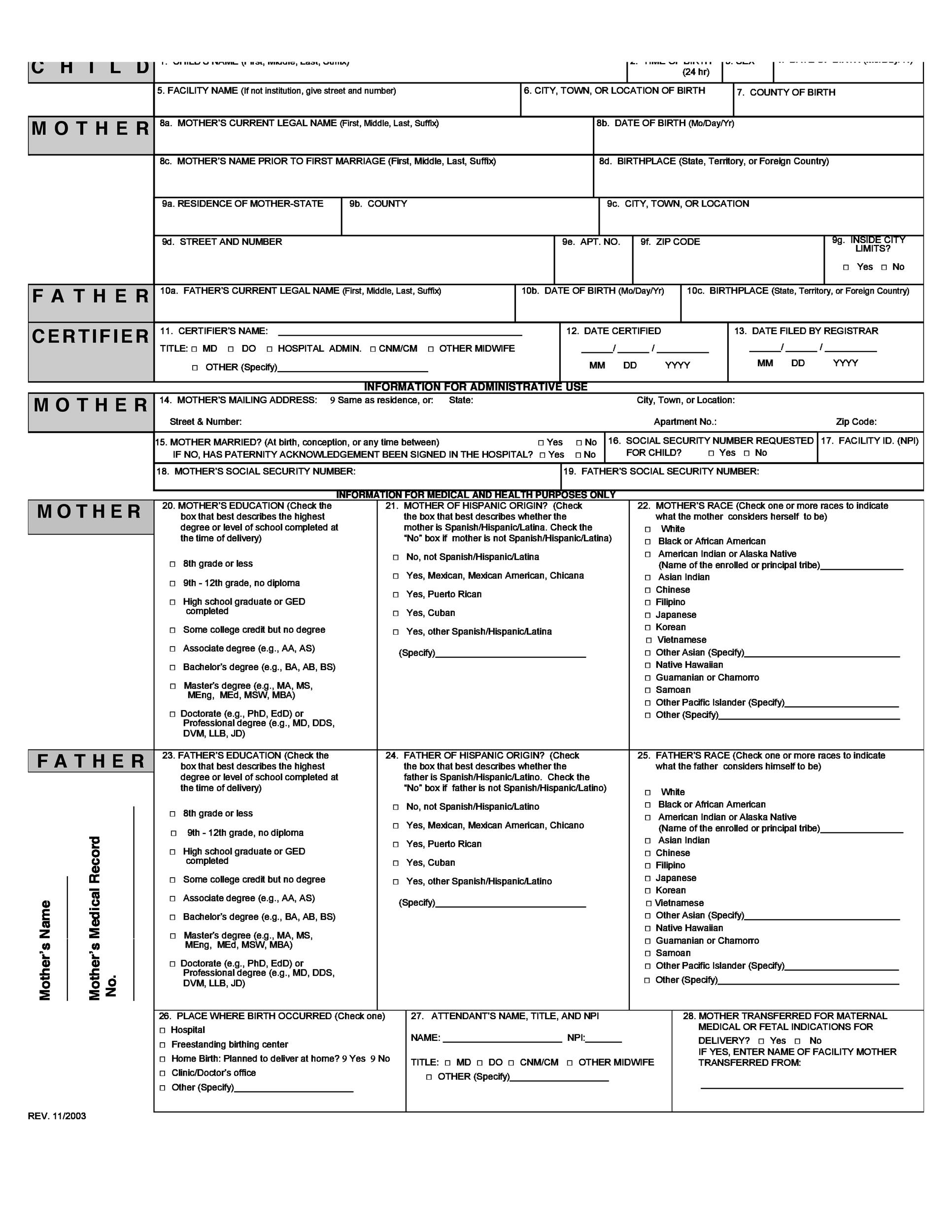 15 Birth Certificate Templates Word PDF Template Lab – Birth Certificate Template Free Download