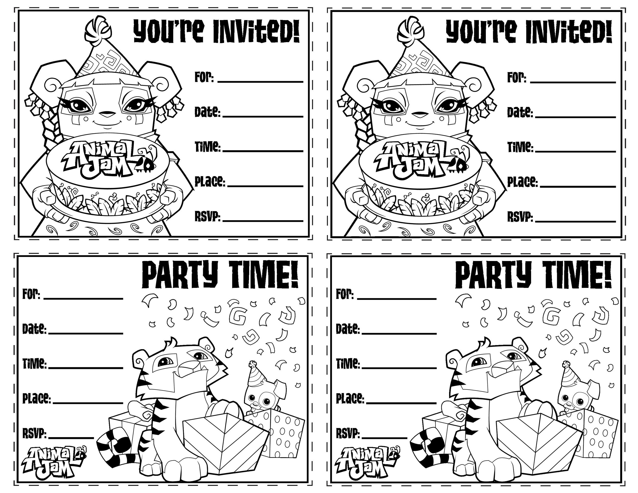 Free Birthday Invitations Templates gangcraftnet – Birthday Party Invitation Template