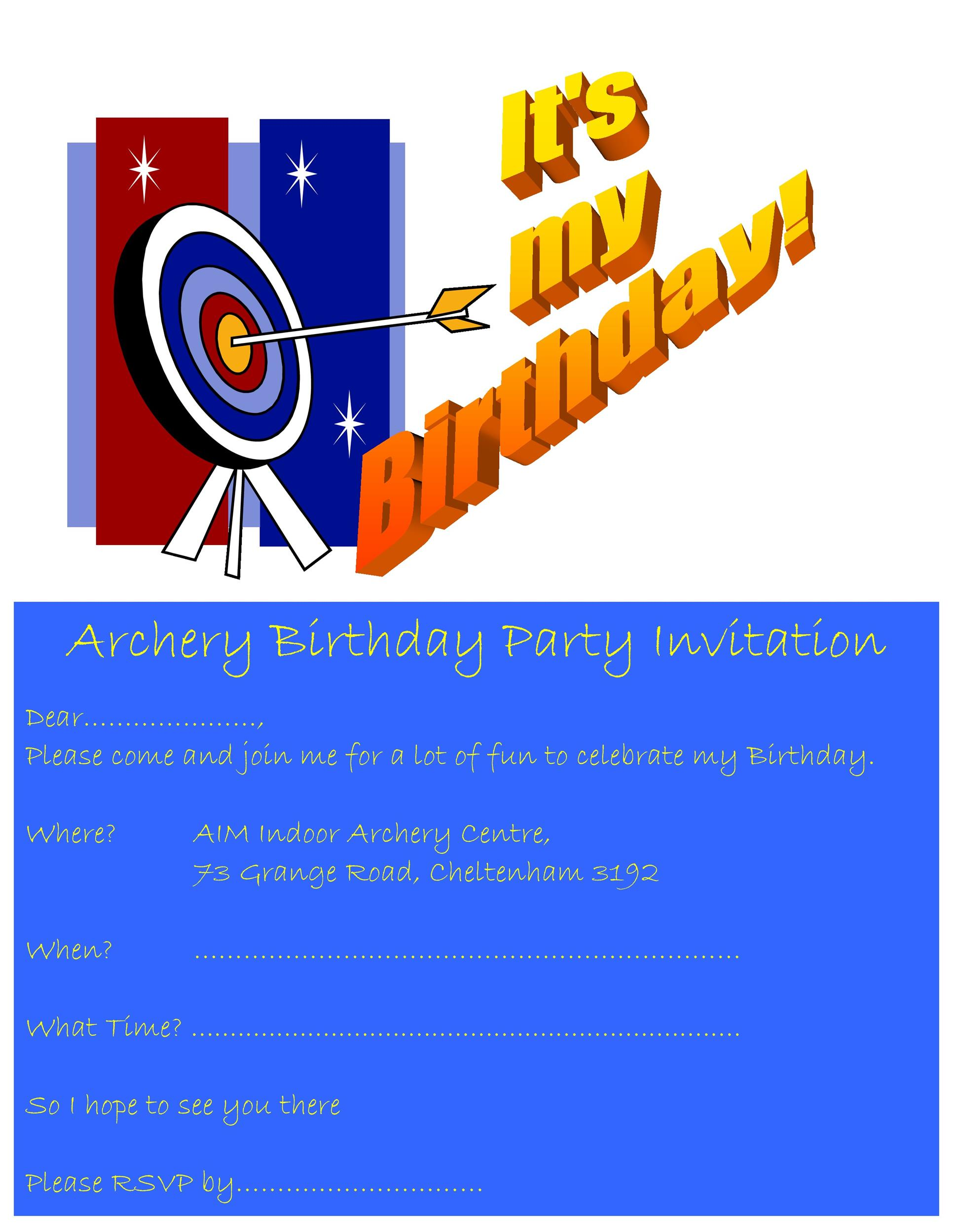 Free Birthday Invitation Template 03