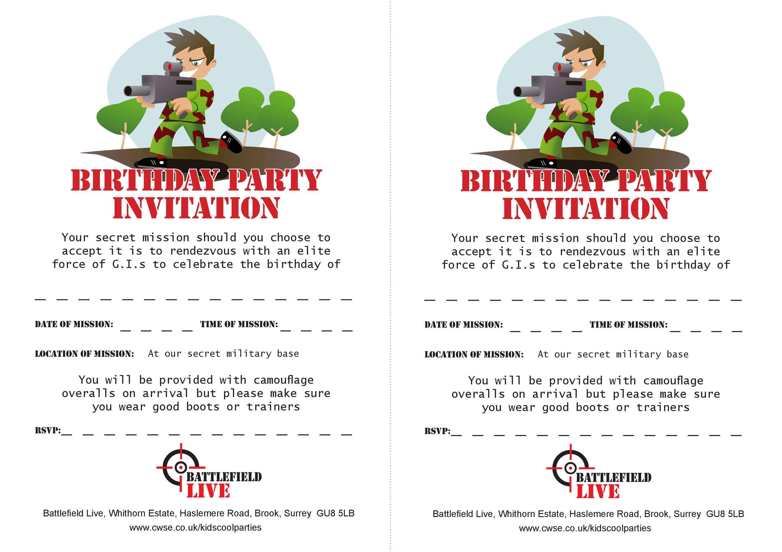 Free Birthday Invitation Template 04