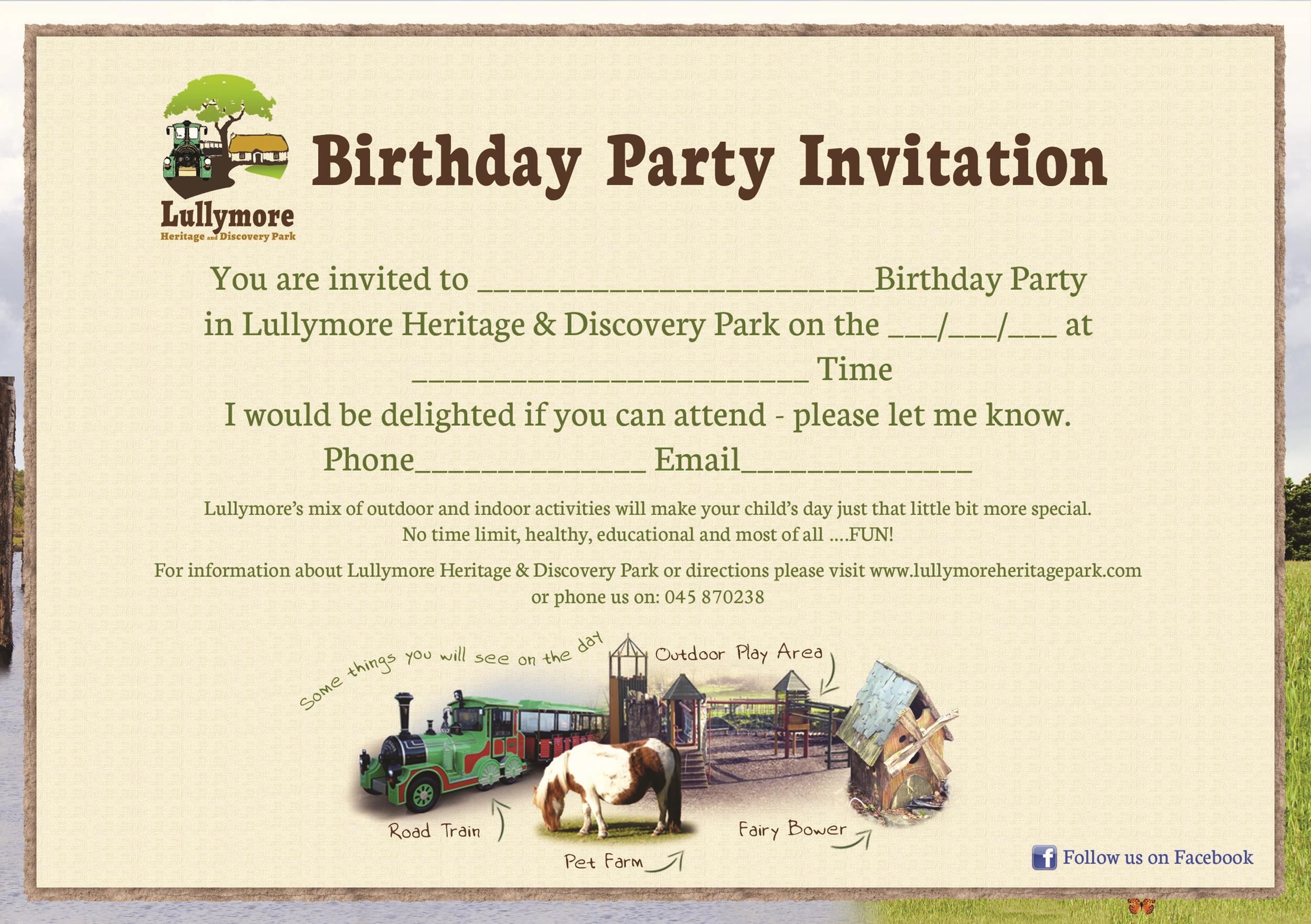 Free Birthday Invitation Template 11
