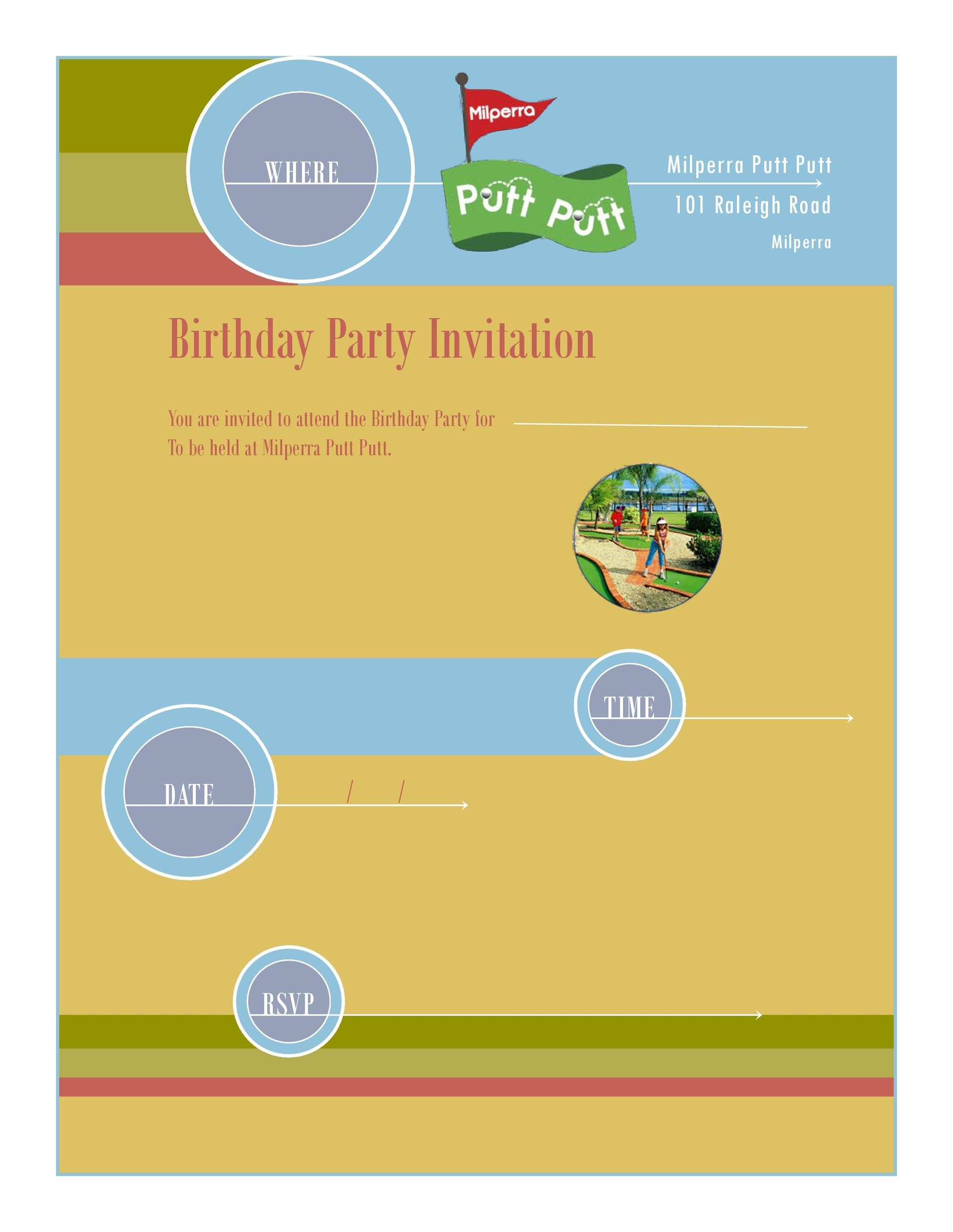 Free Birthday Invitation Template 12