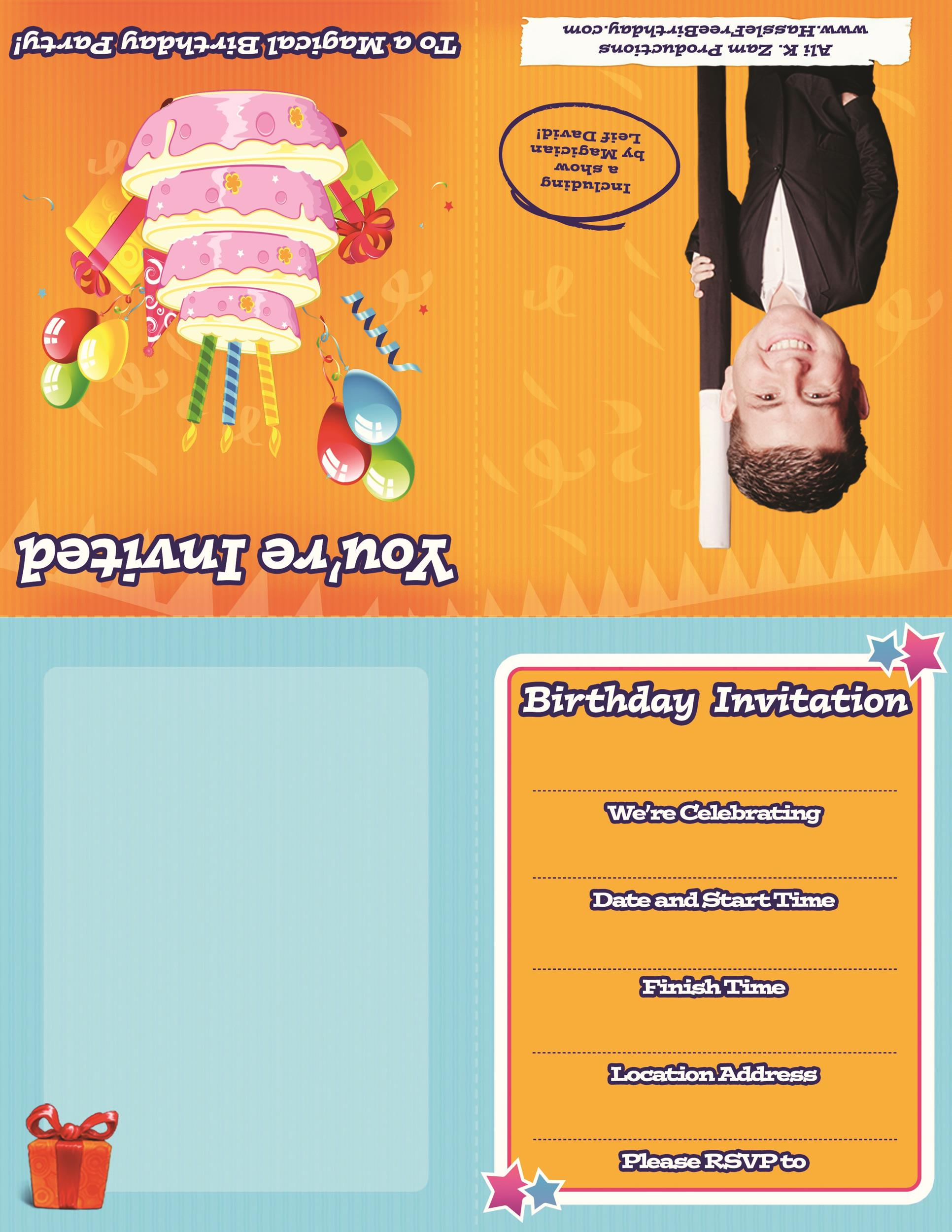 Free Birthday Invitation Template 16