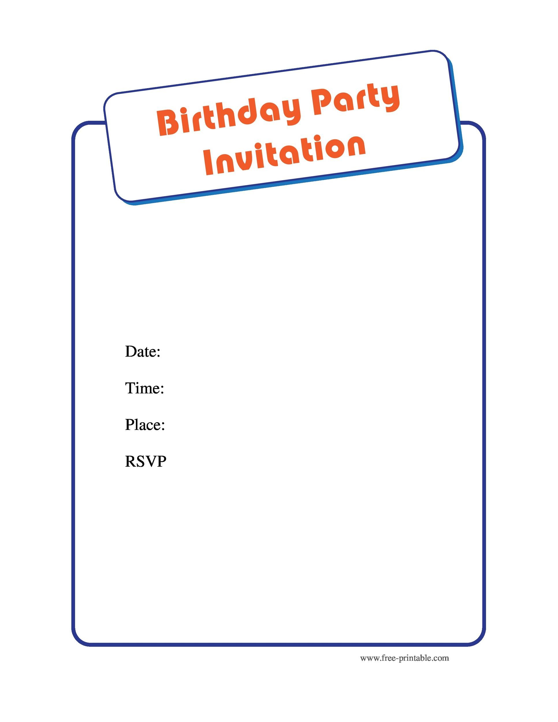 Free Birthday Invitation Template 25
