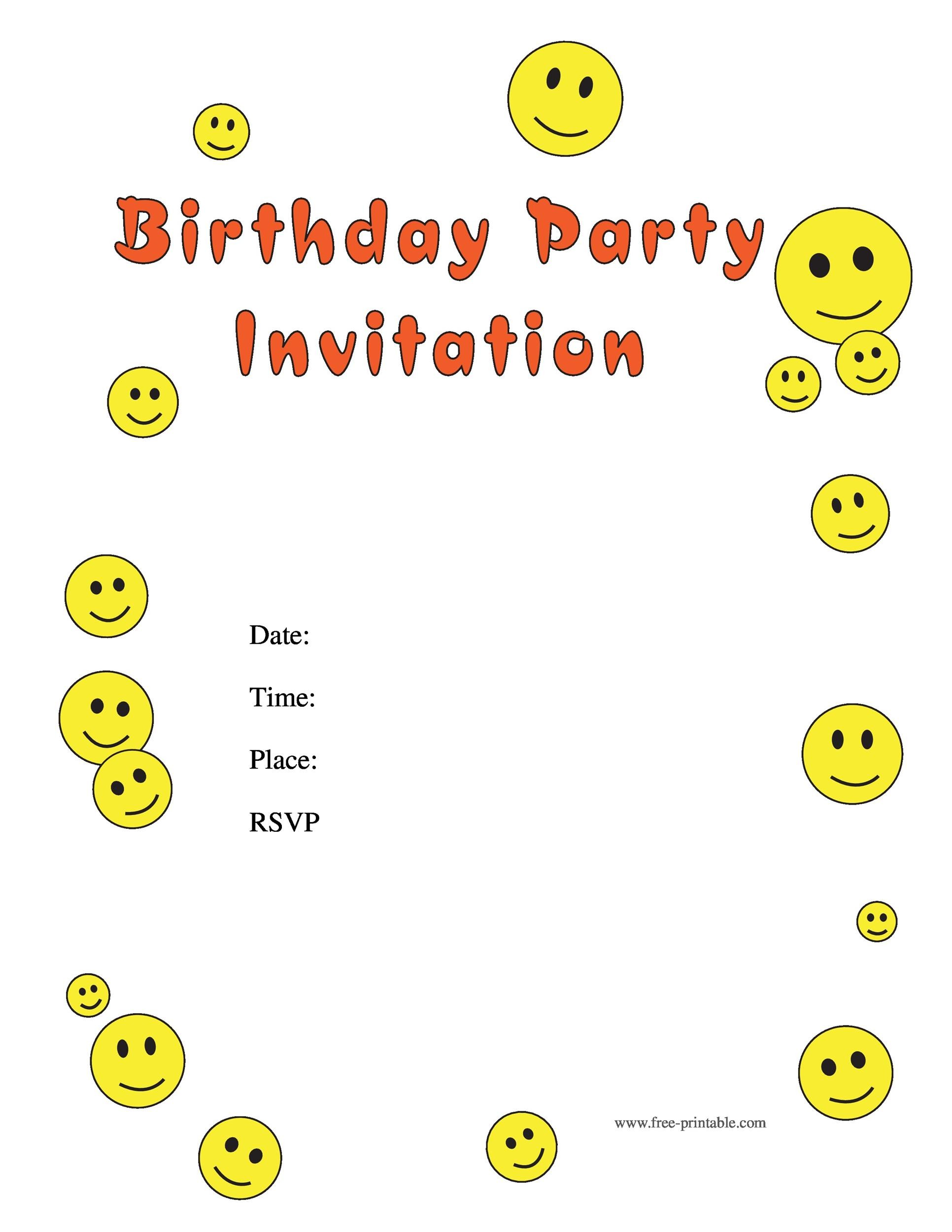 40 free birthday party invitation templates template lab printable birthday invitation template 27 filmwisefo Image collections