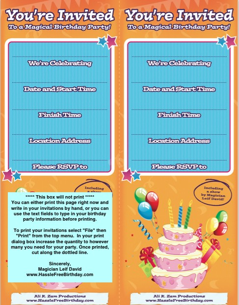 Free Birthday Invitation Template 36
