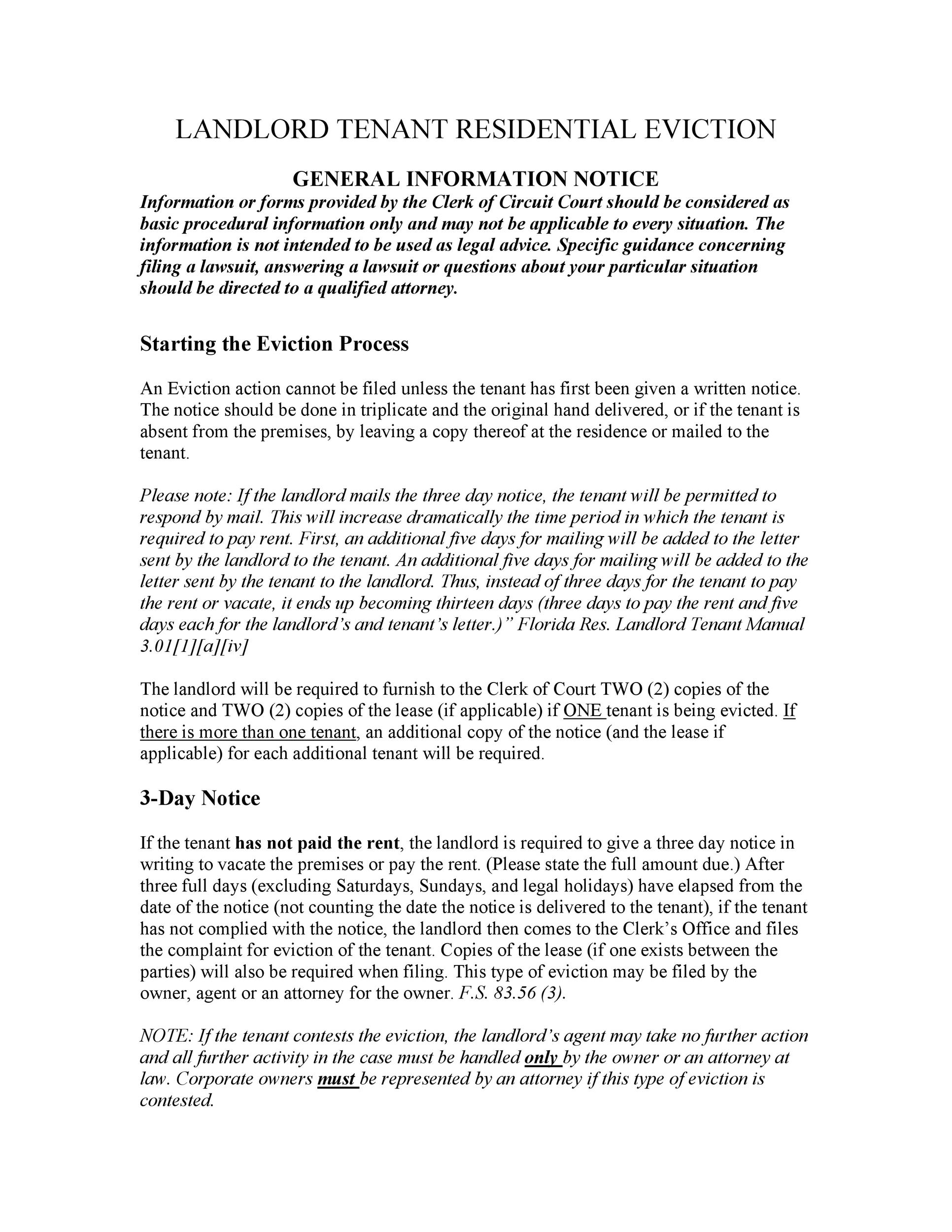 45 eviction notice templates  u0026 lease termination letters