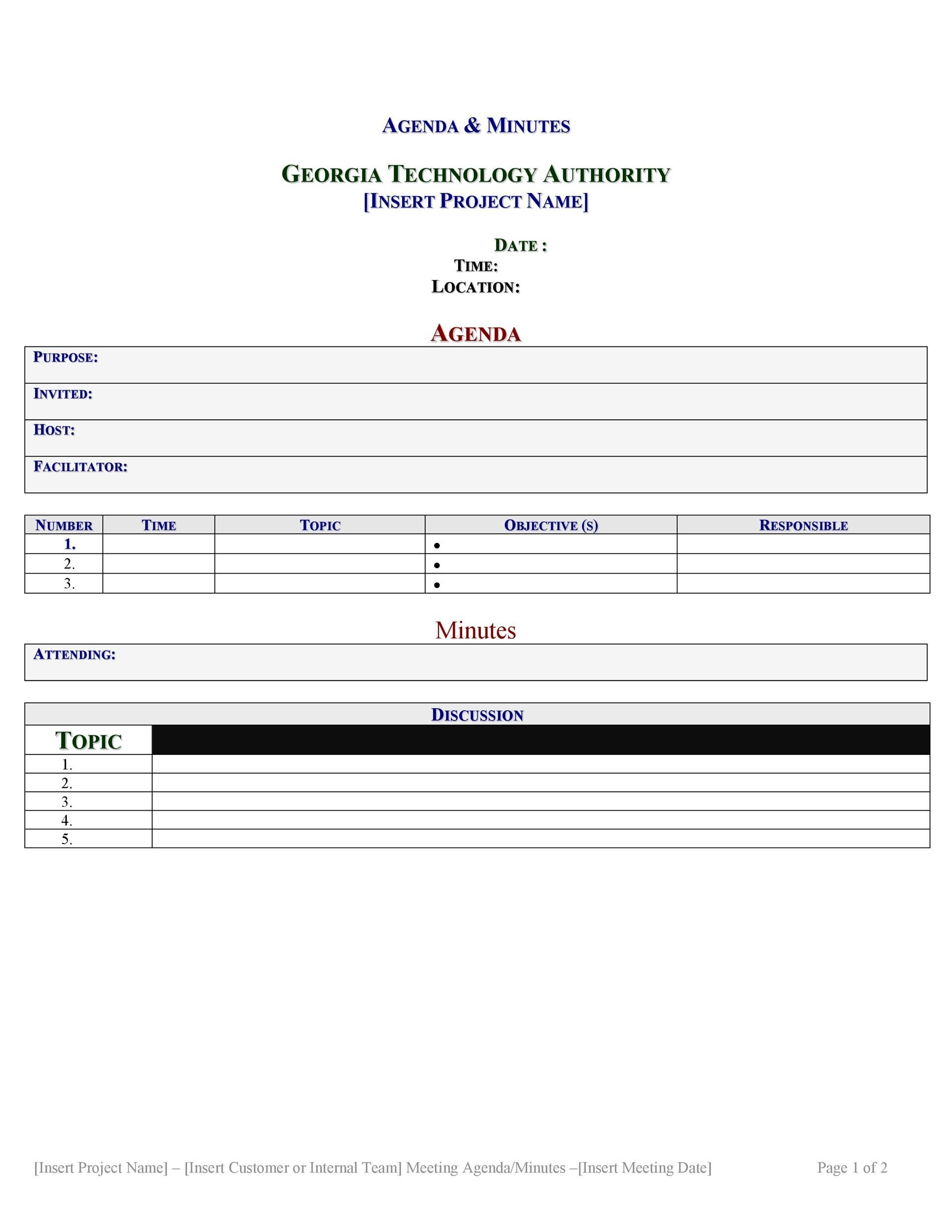 Free Meeting Minutes Template 04