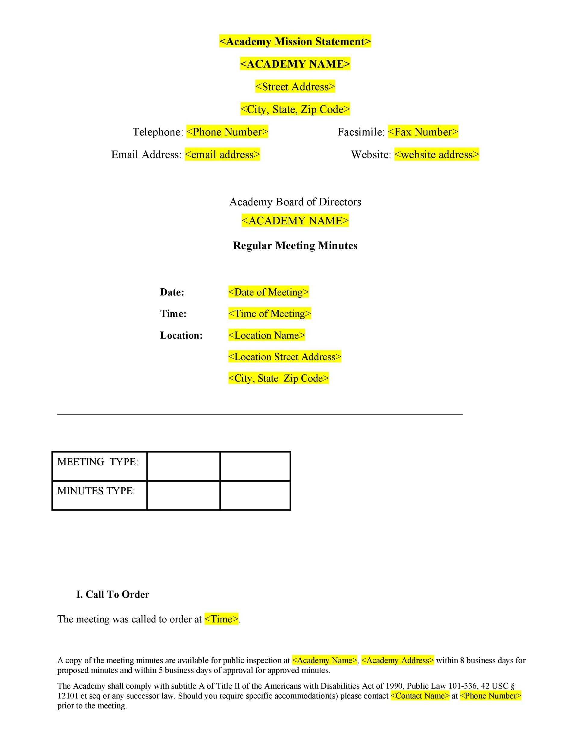 Free Meeting Notes Template 14