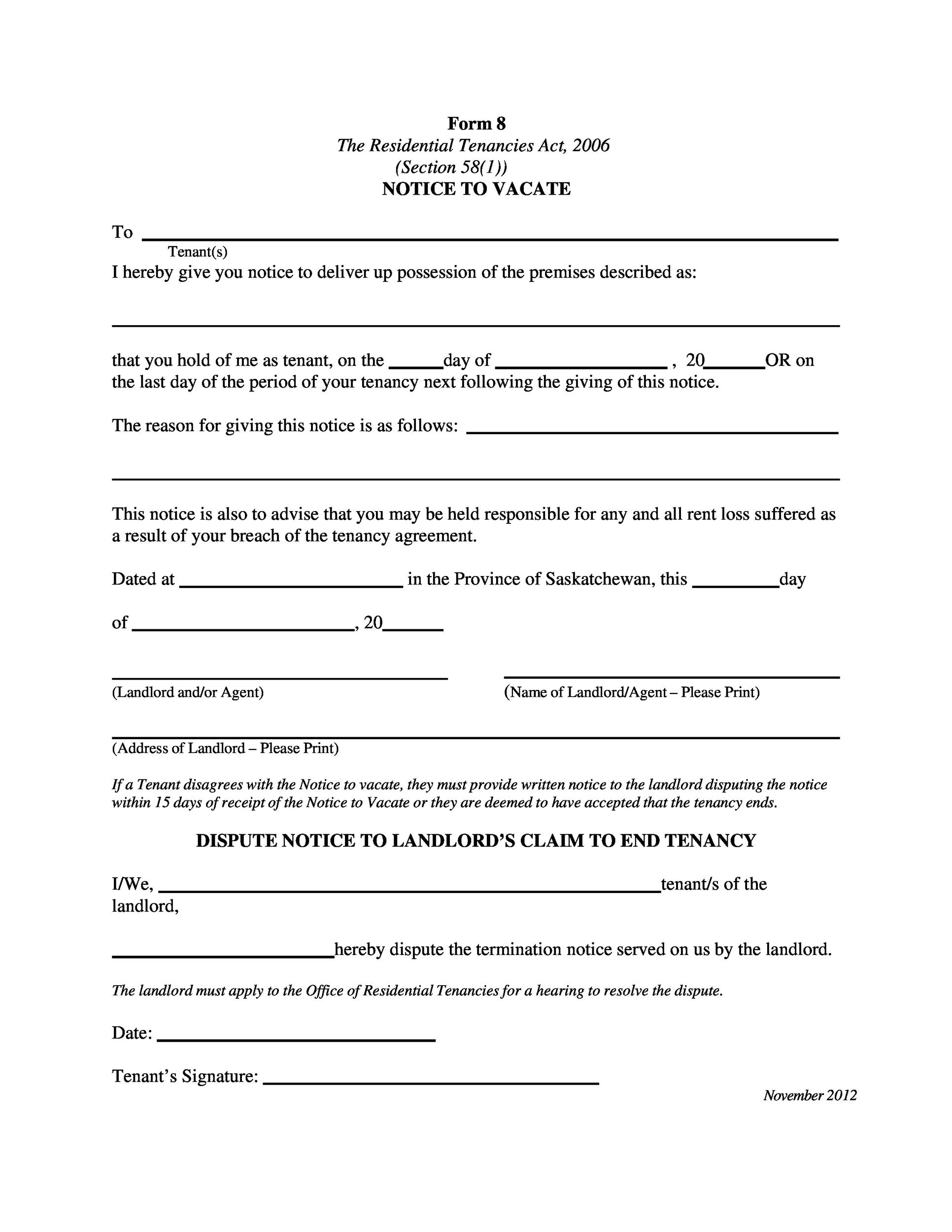 lease termination notice template