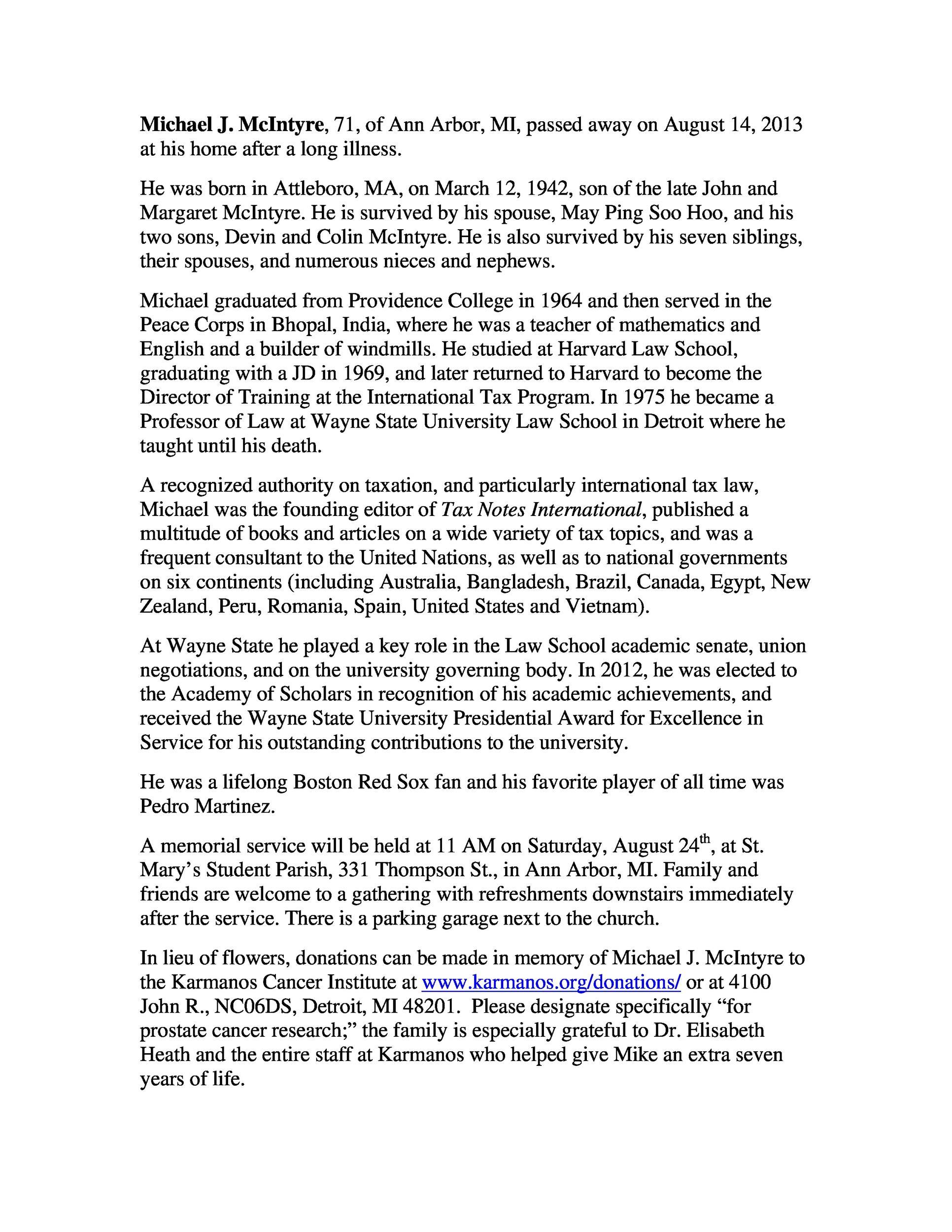 Free Obituary Samples PDF 02