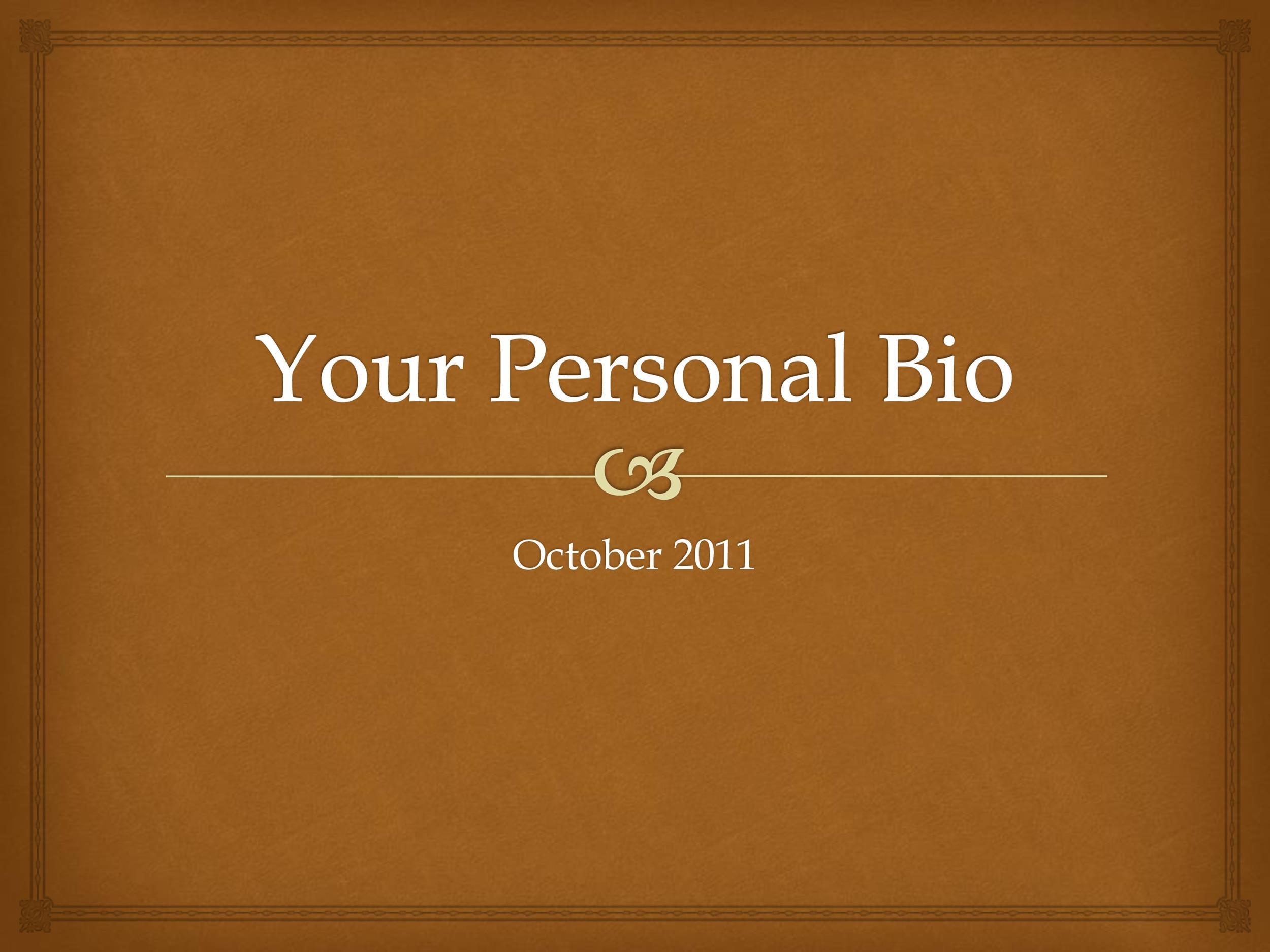 Free Personal Bio
