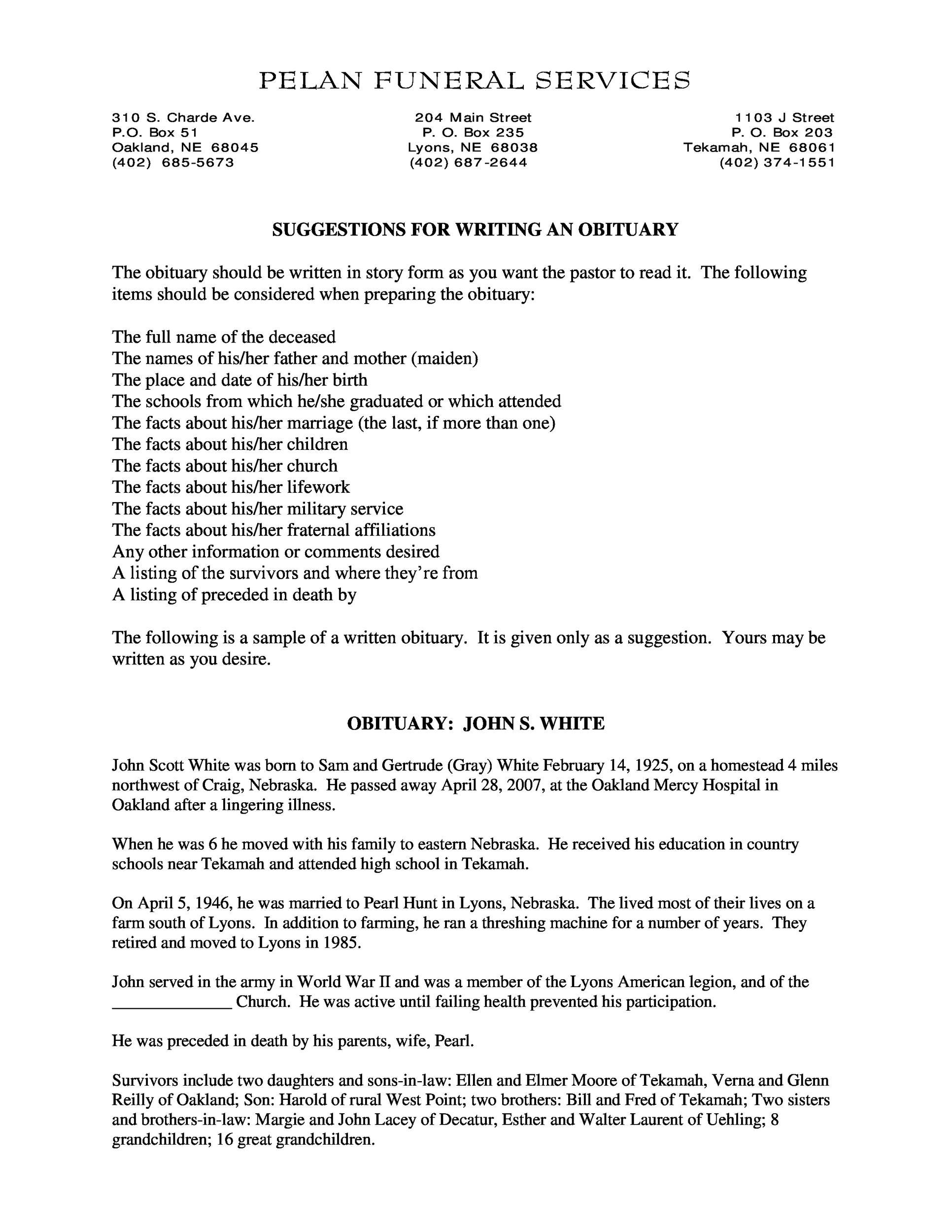 Free Sample Obituary 03