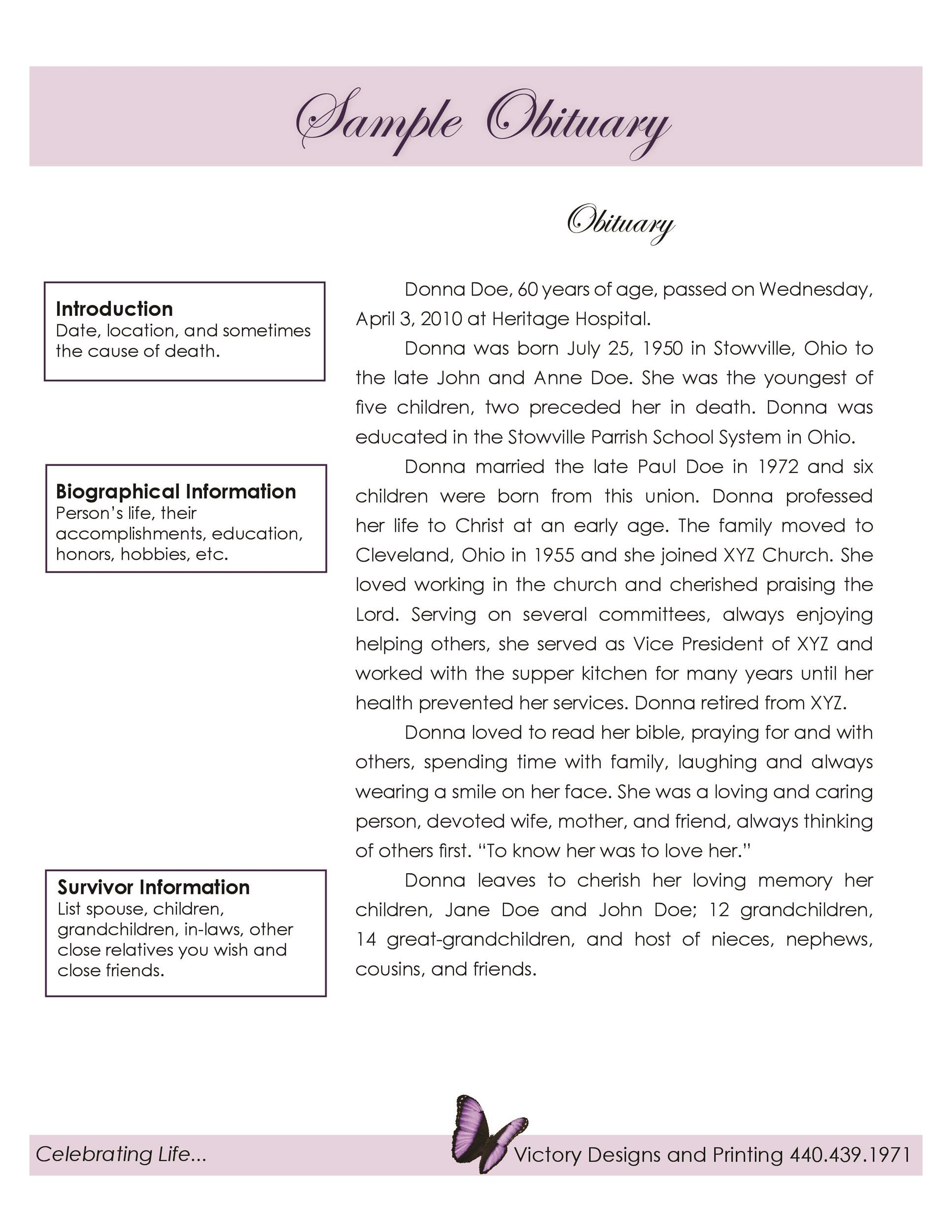 6+ Newspaper Obituary Templates – DOC, PDF