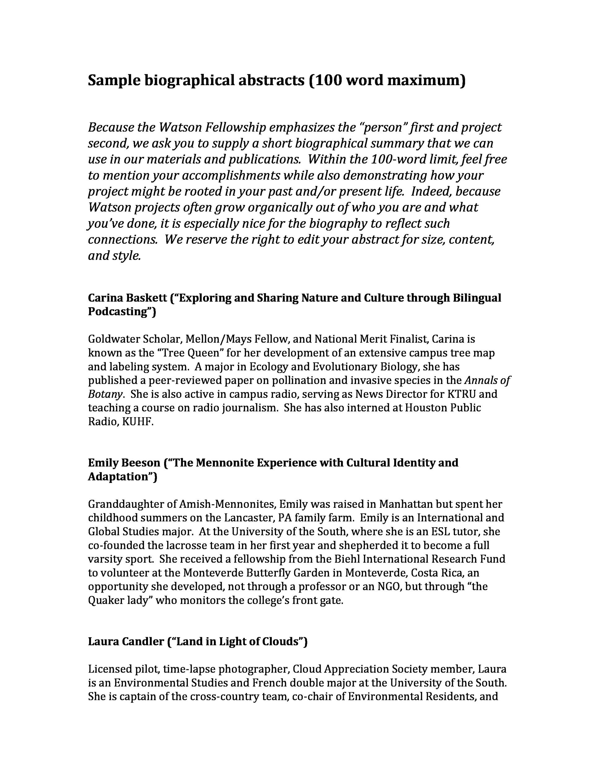 45 biography templates  u0026 examples  personal  professional