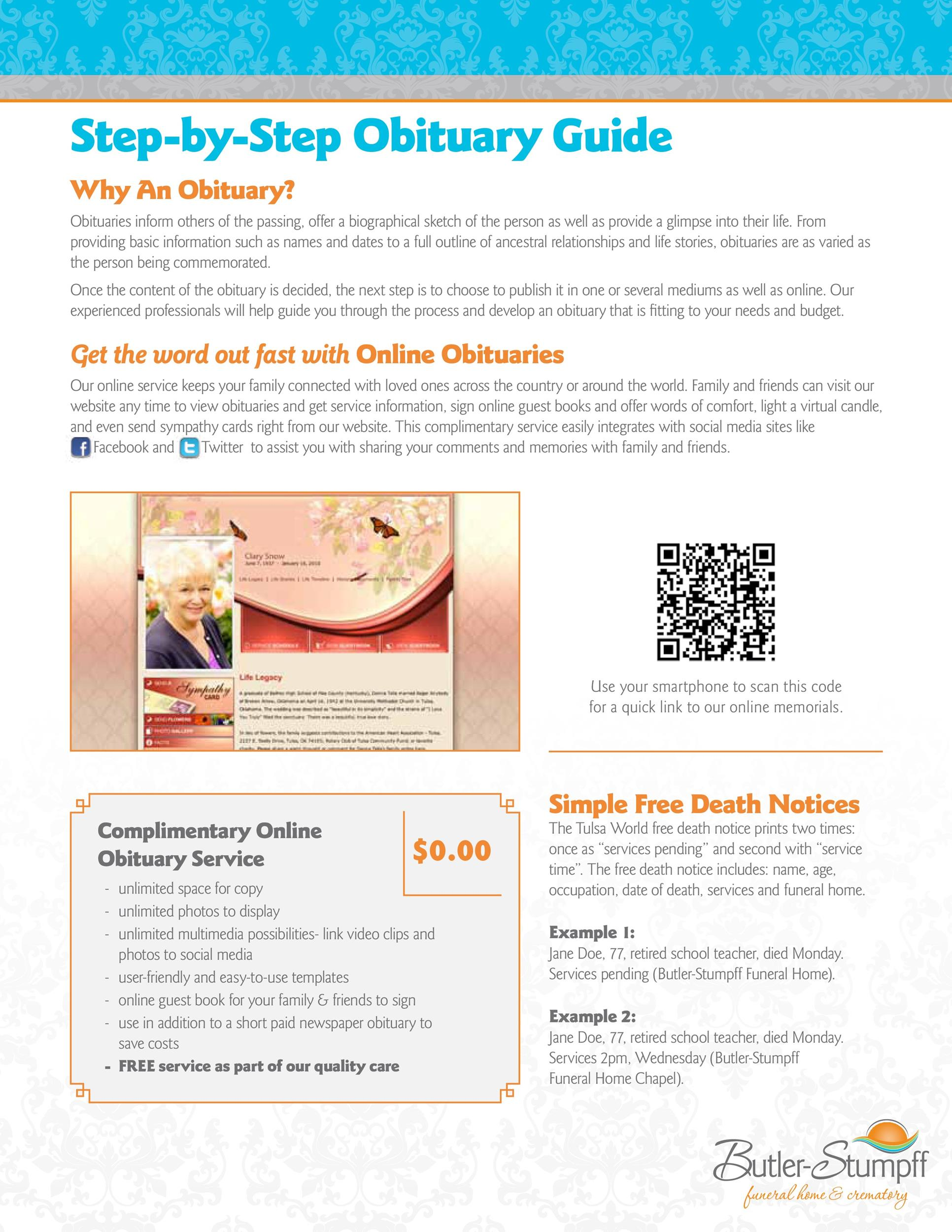 Free Step-by-Step Obituary Guide