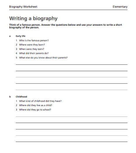Free Writing a biography