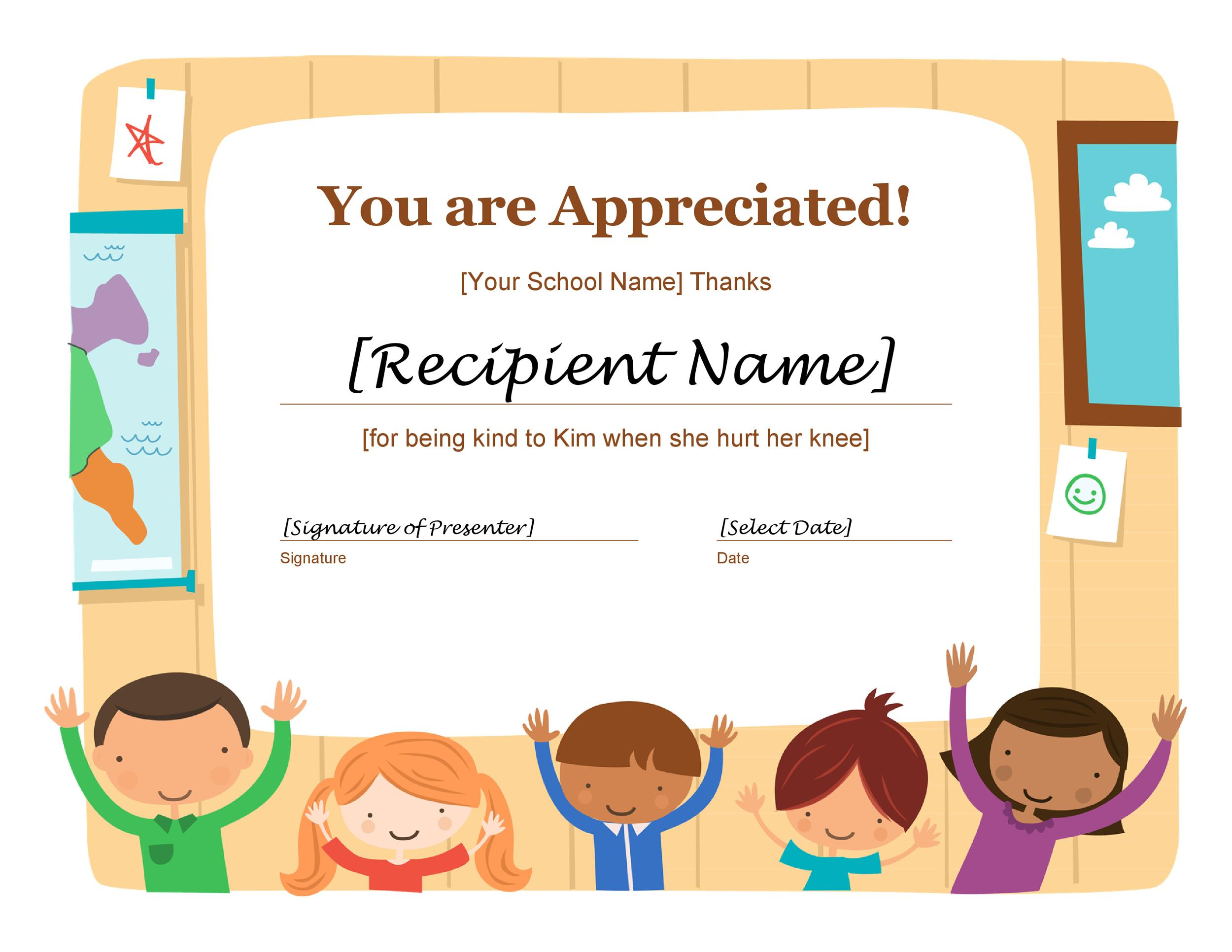 Free Certificate of Appreciation 16