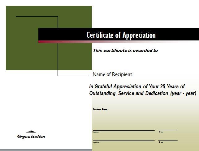 Free Certificate of Appreciation 23