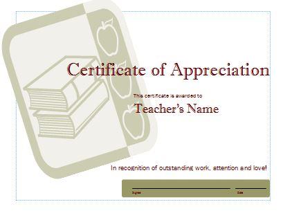 Free Certificate of Appreciation 28
