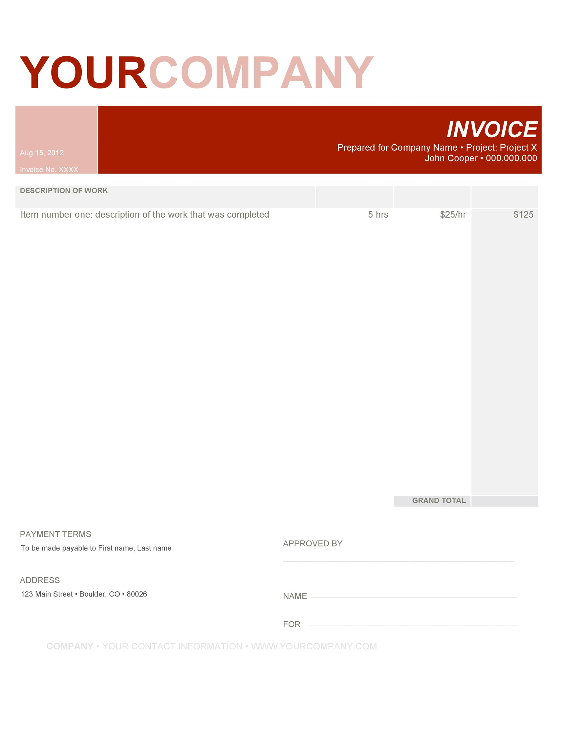 Free Invoice Template 04