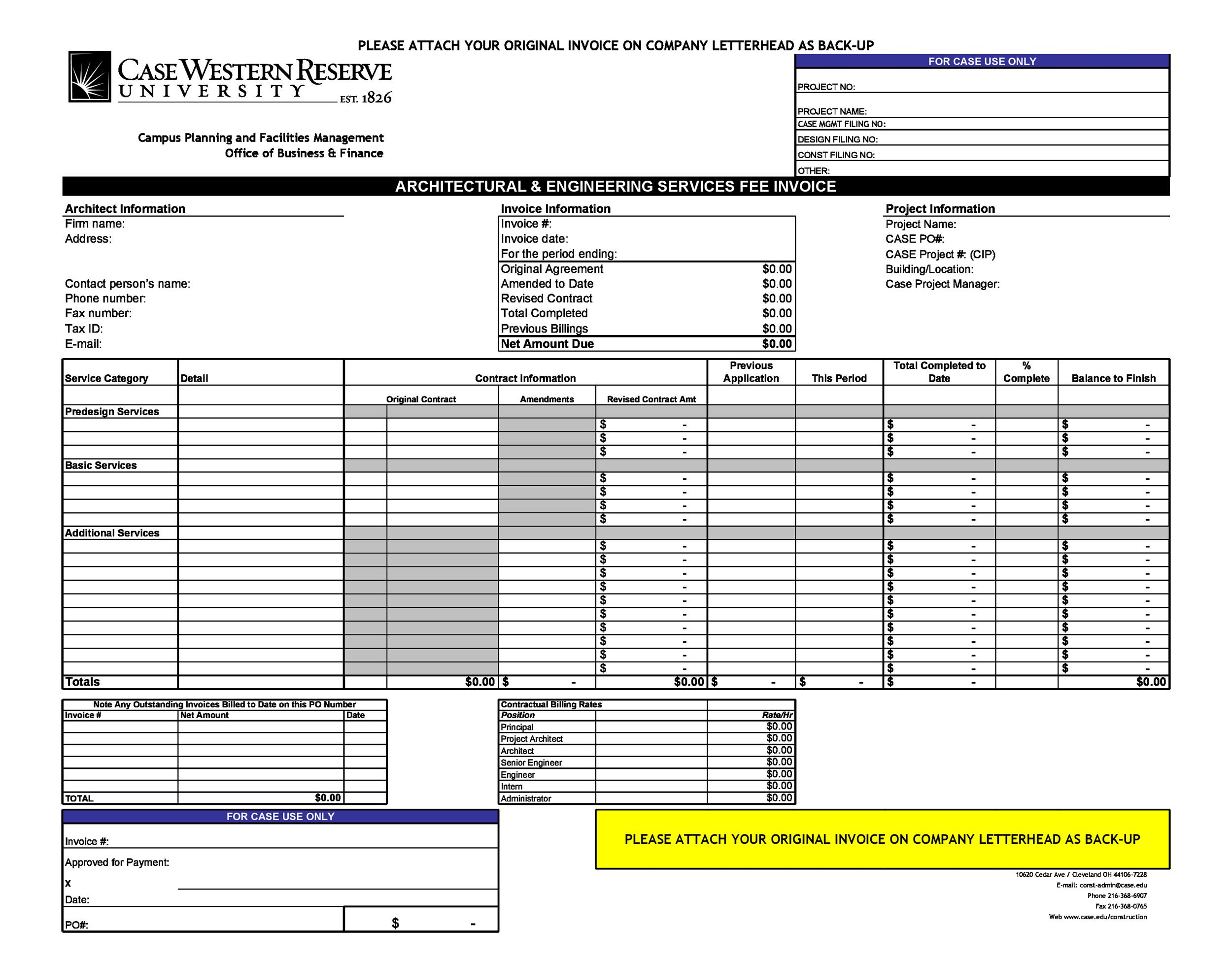 Printable Invoice Template 01  Copy Of A Blank Invoice