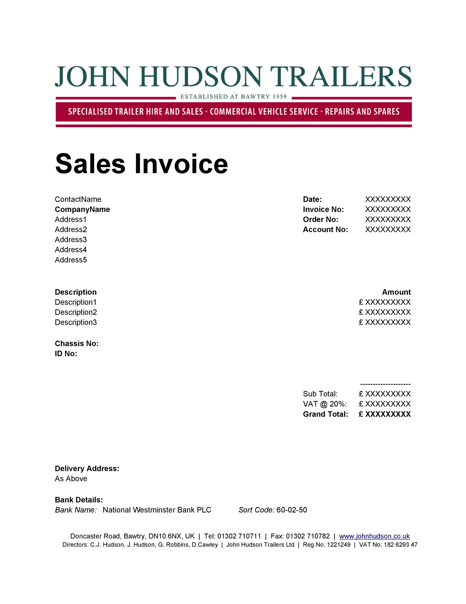 Free Invoice Template 06
