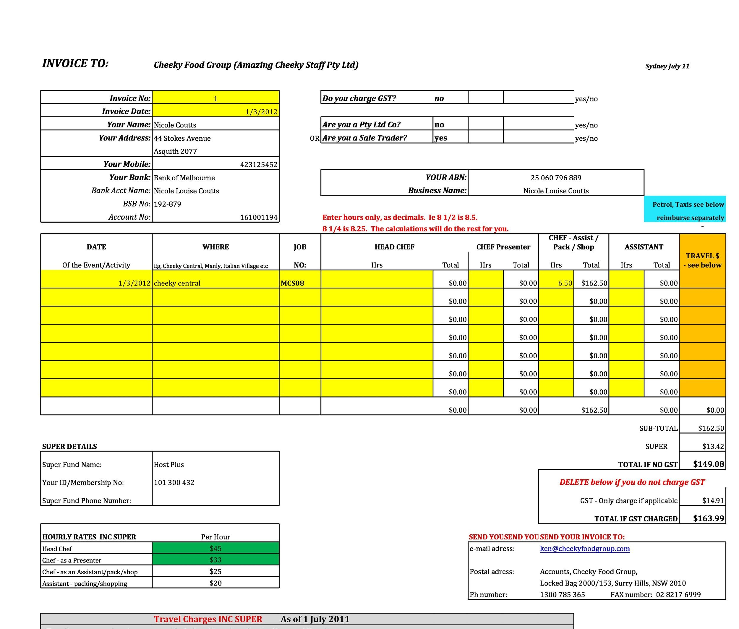 Free Invoice Template 10