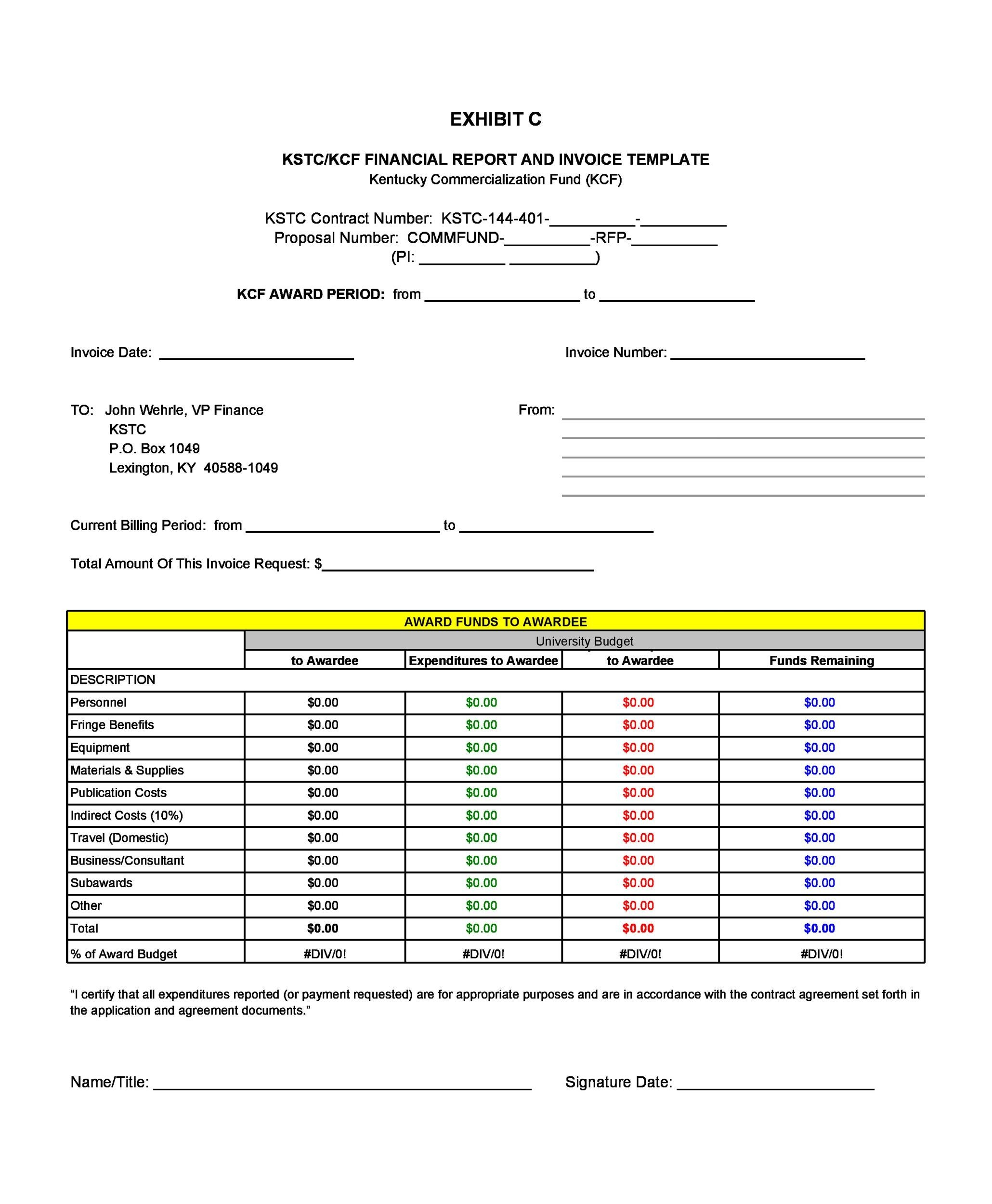 Free Invoice Template 22