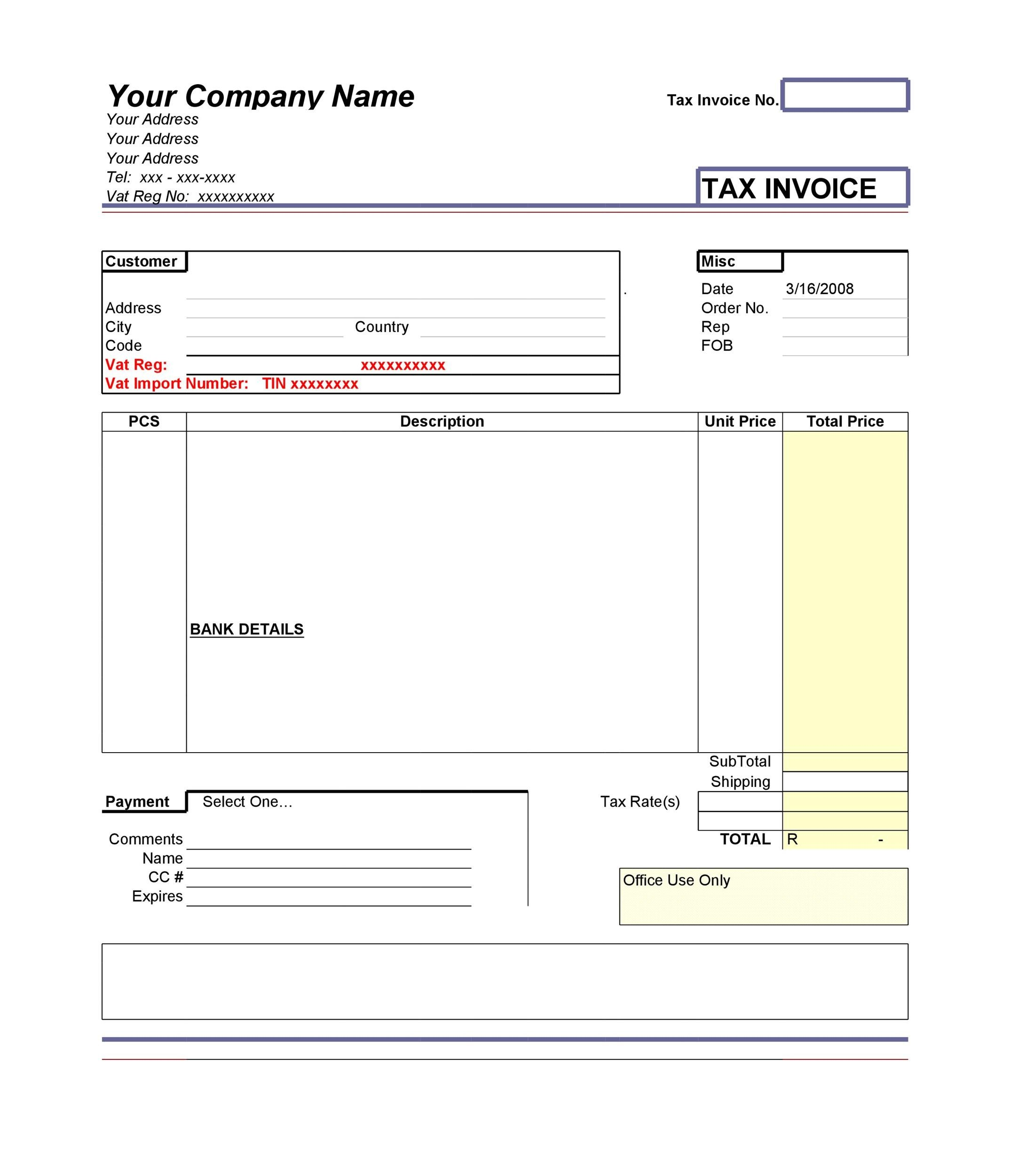 Free Invoice Template 29