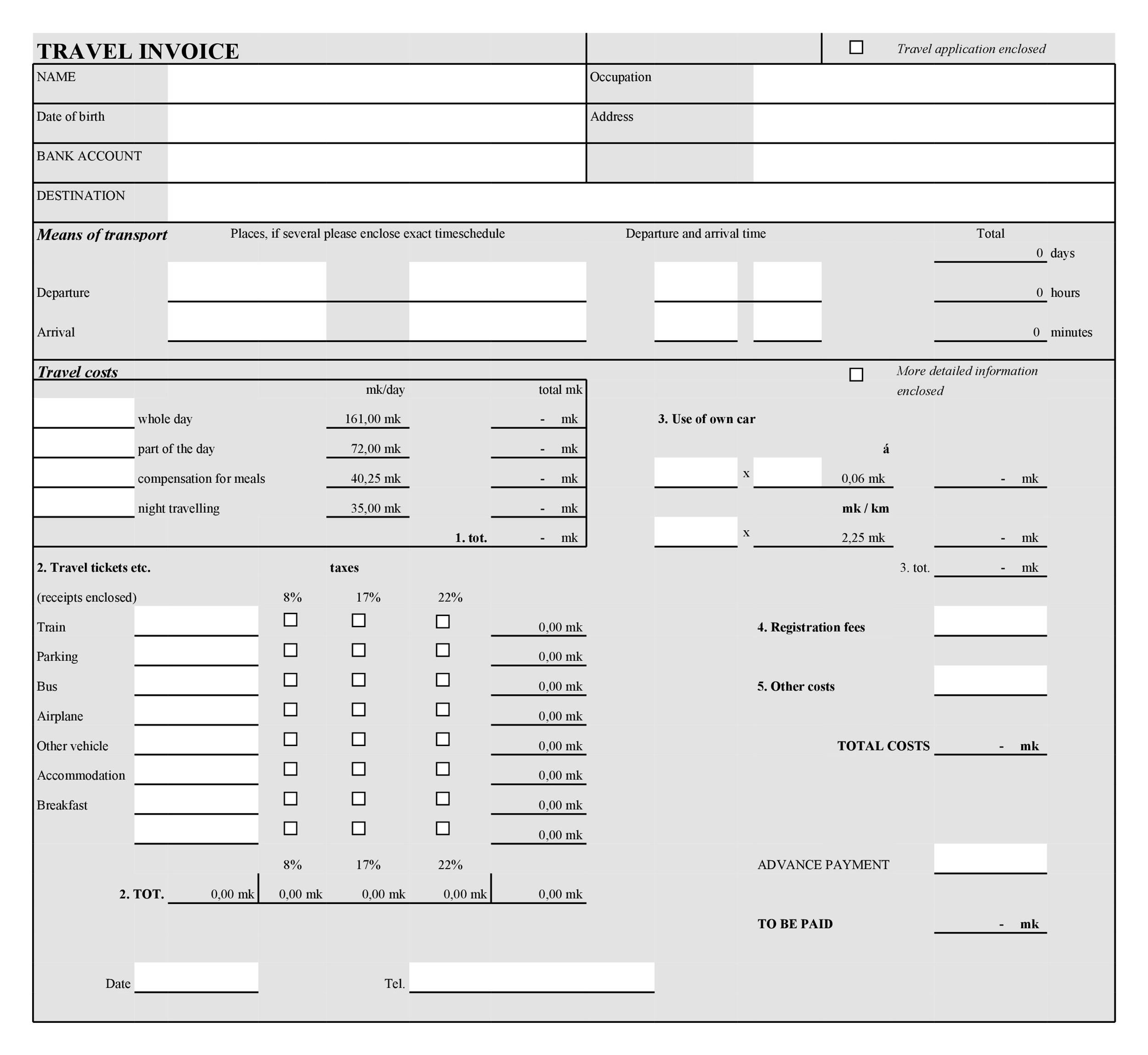 Free Invoice Template 31
