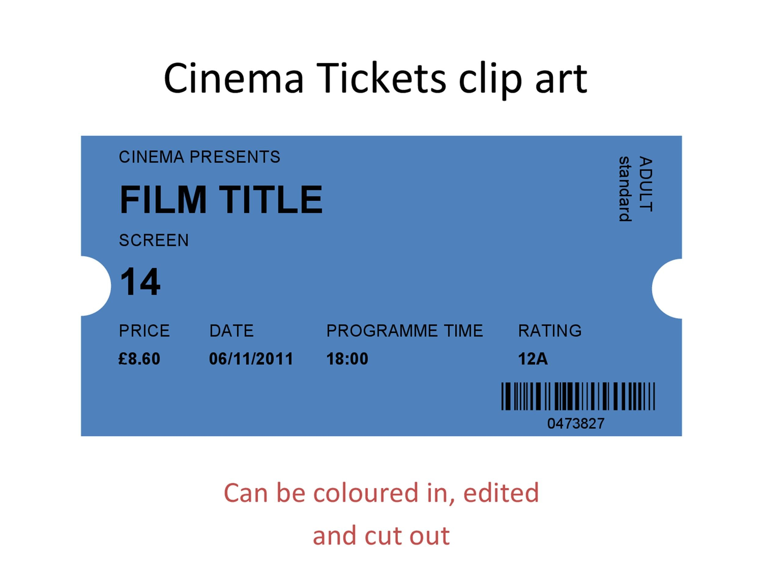 Free Movie ticket Templates 42