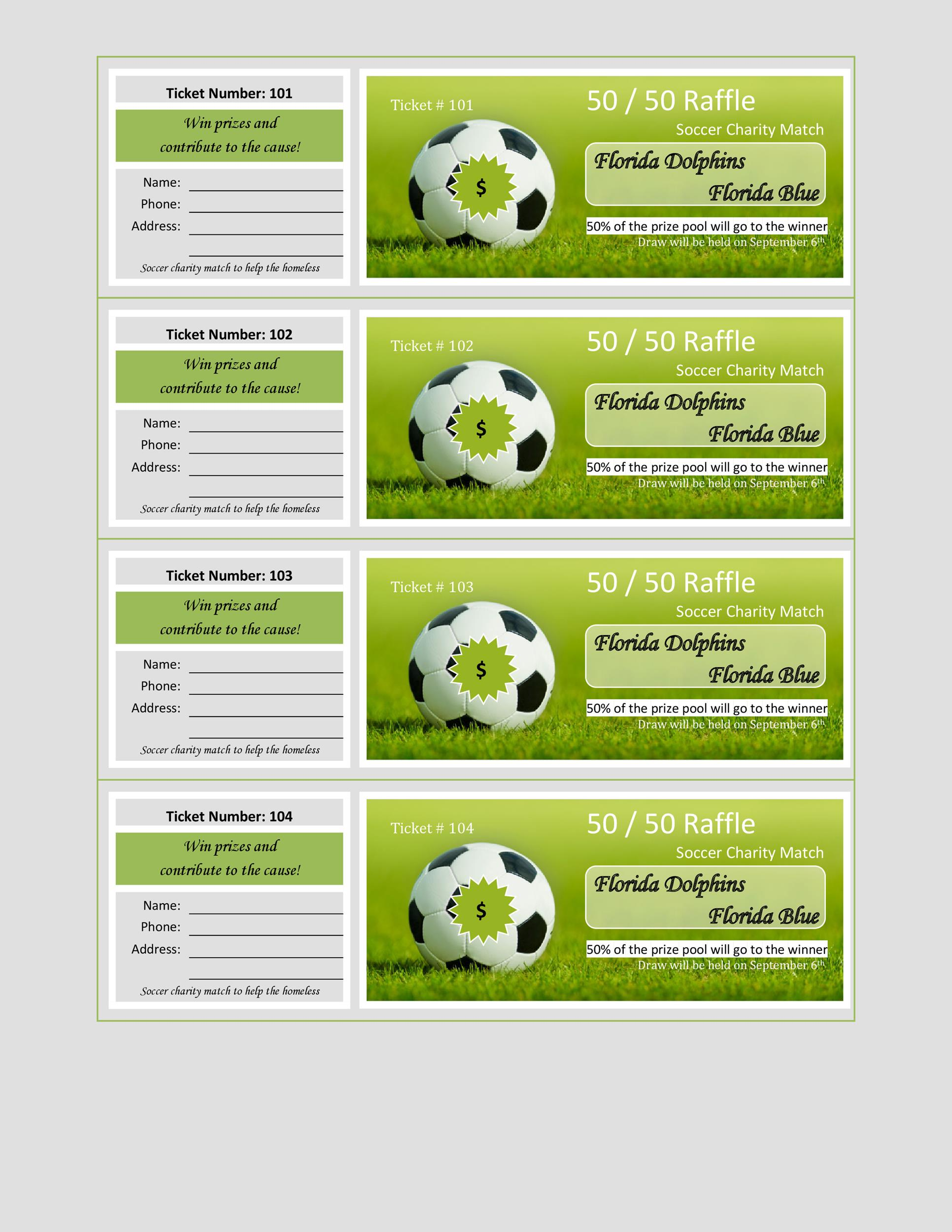 Free Raffle Ticket Templates 01