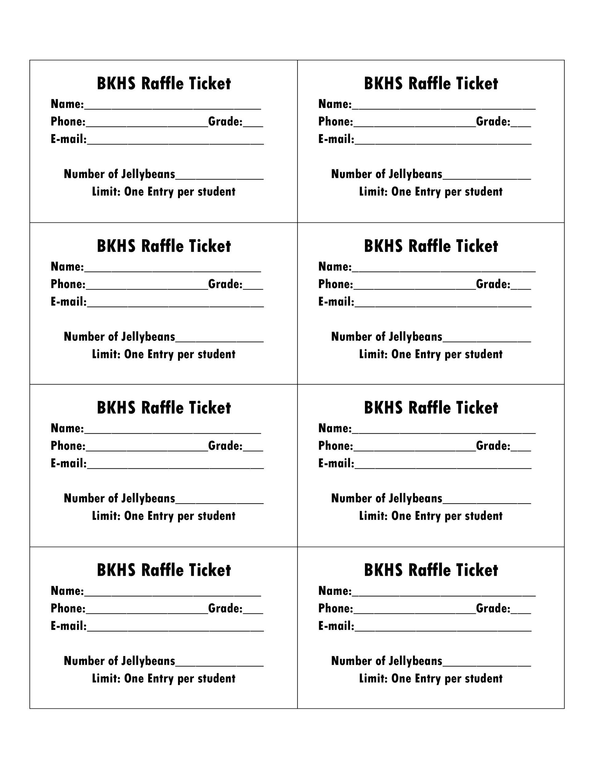 Free Raffle Ticket Templates 04