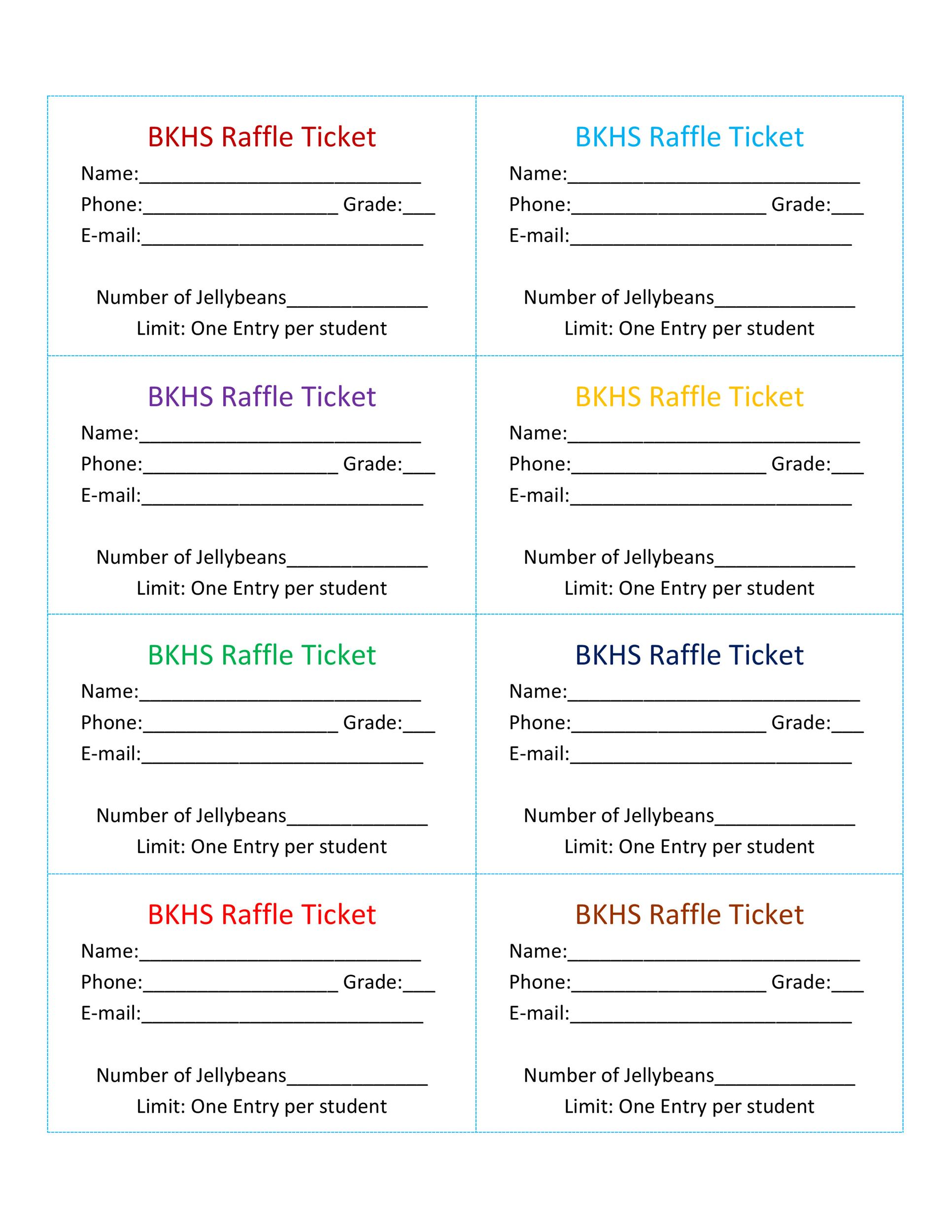 Free Raffle Ticket Templates 13