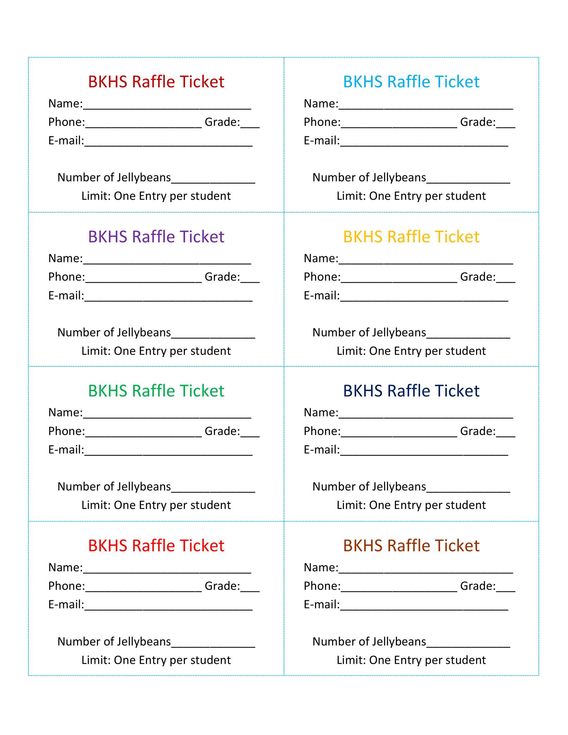 Free Raffle Ticket Templates 13